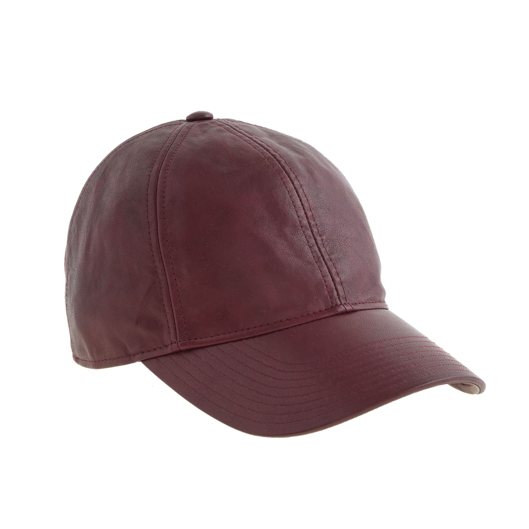 j crew leather baseball cap in purple lyst