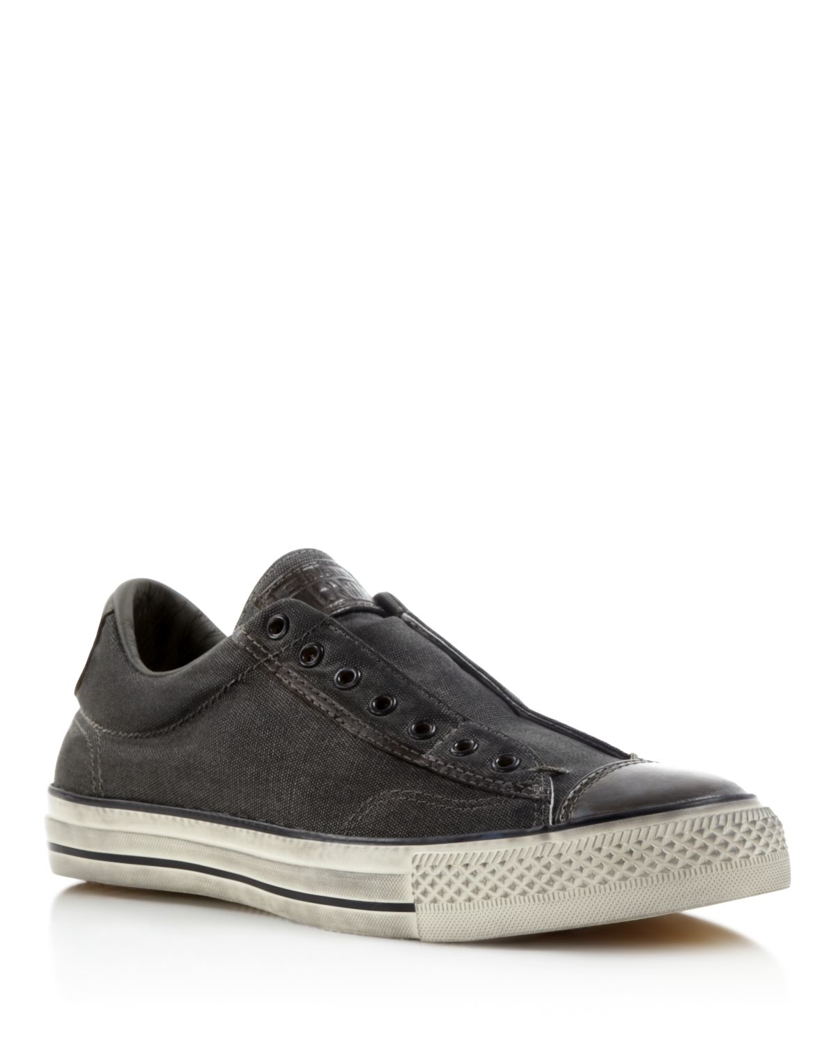 Lyst converse all star vintage slip on sneakers in gray - Graue converse ...