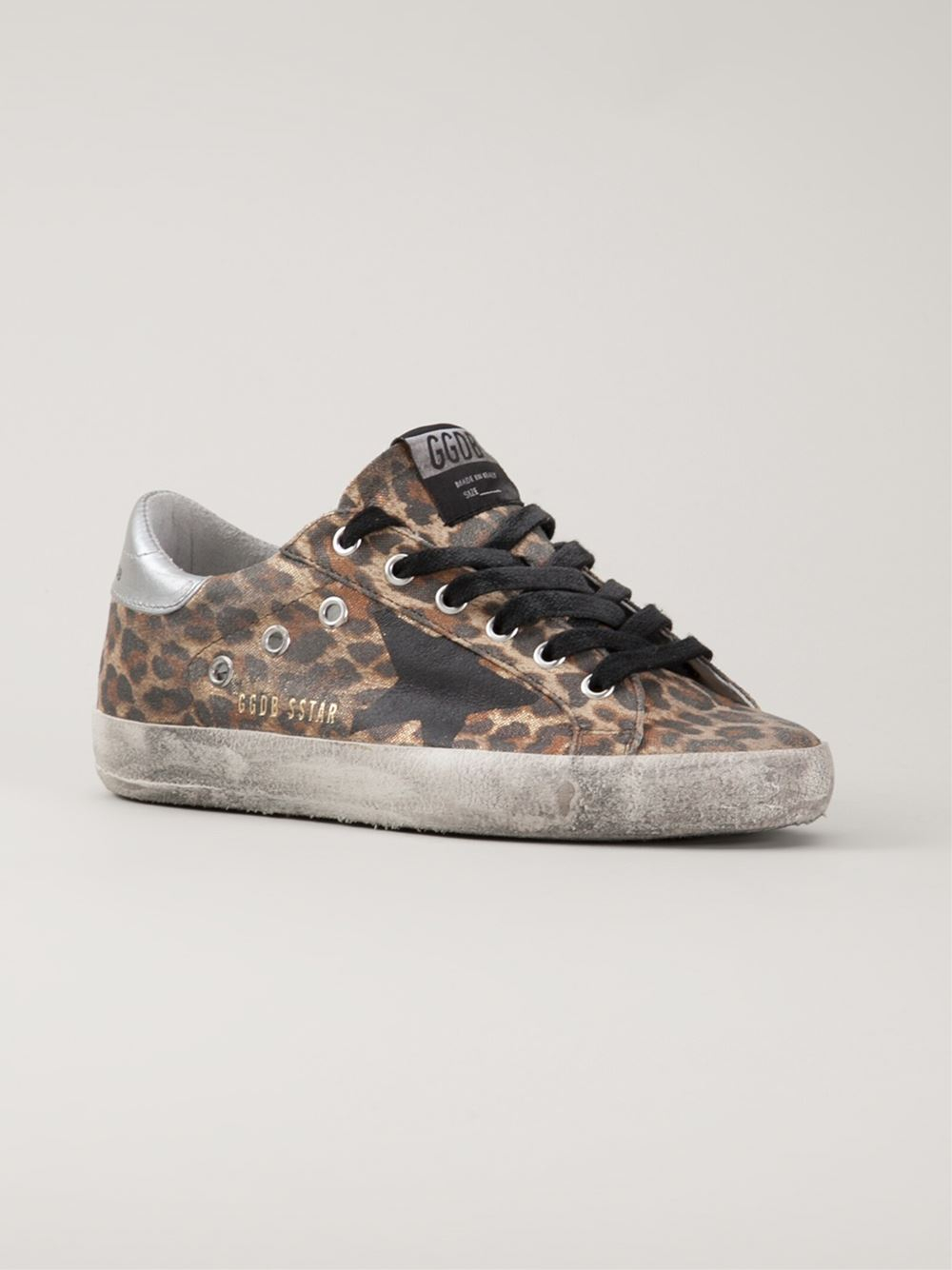 lyst golden goose deluxe brand leopard print sneakers in brown. Black Bedroom Furniture Sets. Home Design Ideas