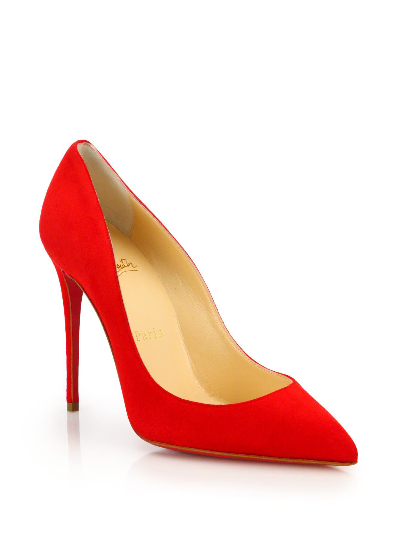 Lyst Christian Louboutin Pigalle Follies Suede Pumps In Red