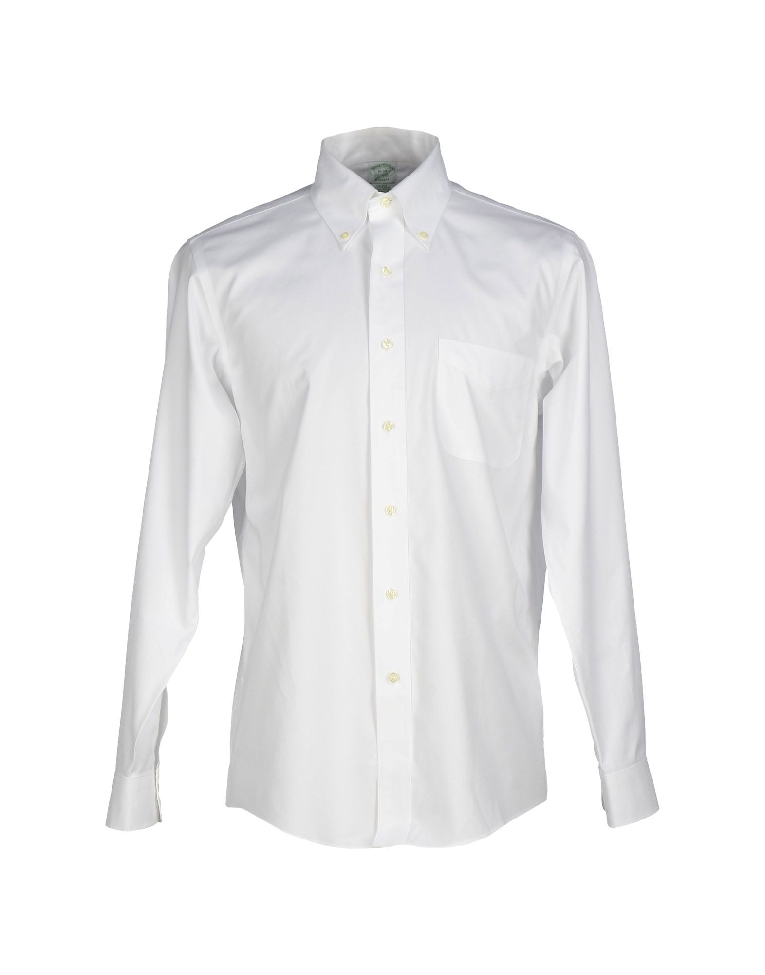 Brooks brothers shirt in white for men lyst for Brooks brothers boys shirts