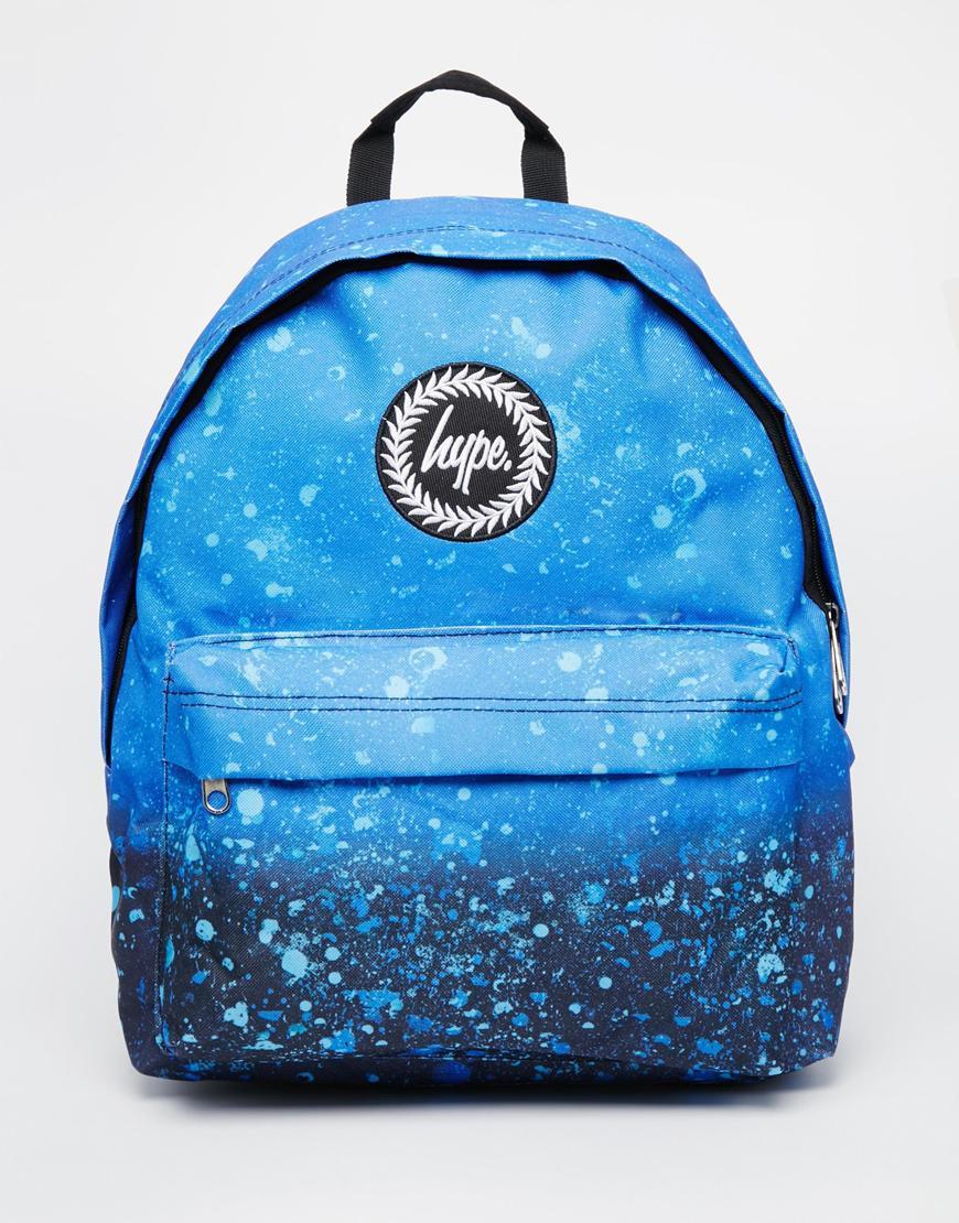Hype Backpack In Splat Print In Blue For Men Lyst