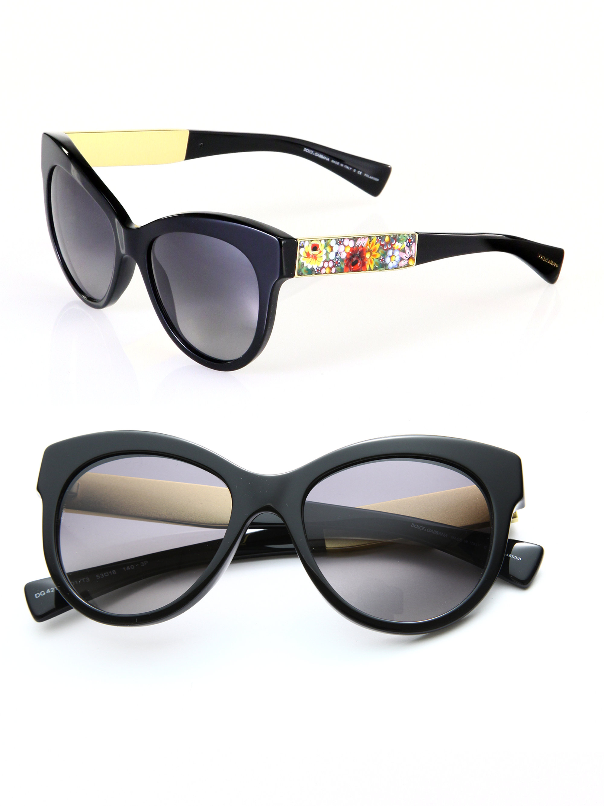 Dolce Gabbana Cat Eye Sunglasses  dolce gabbana modified catseye sunglasses in black lyst