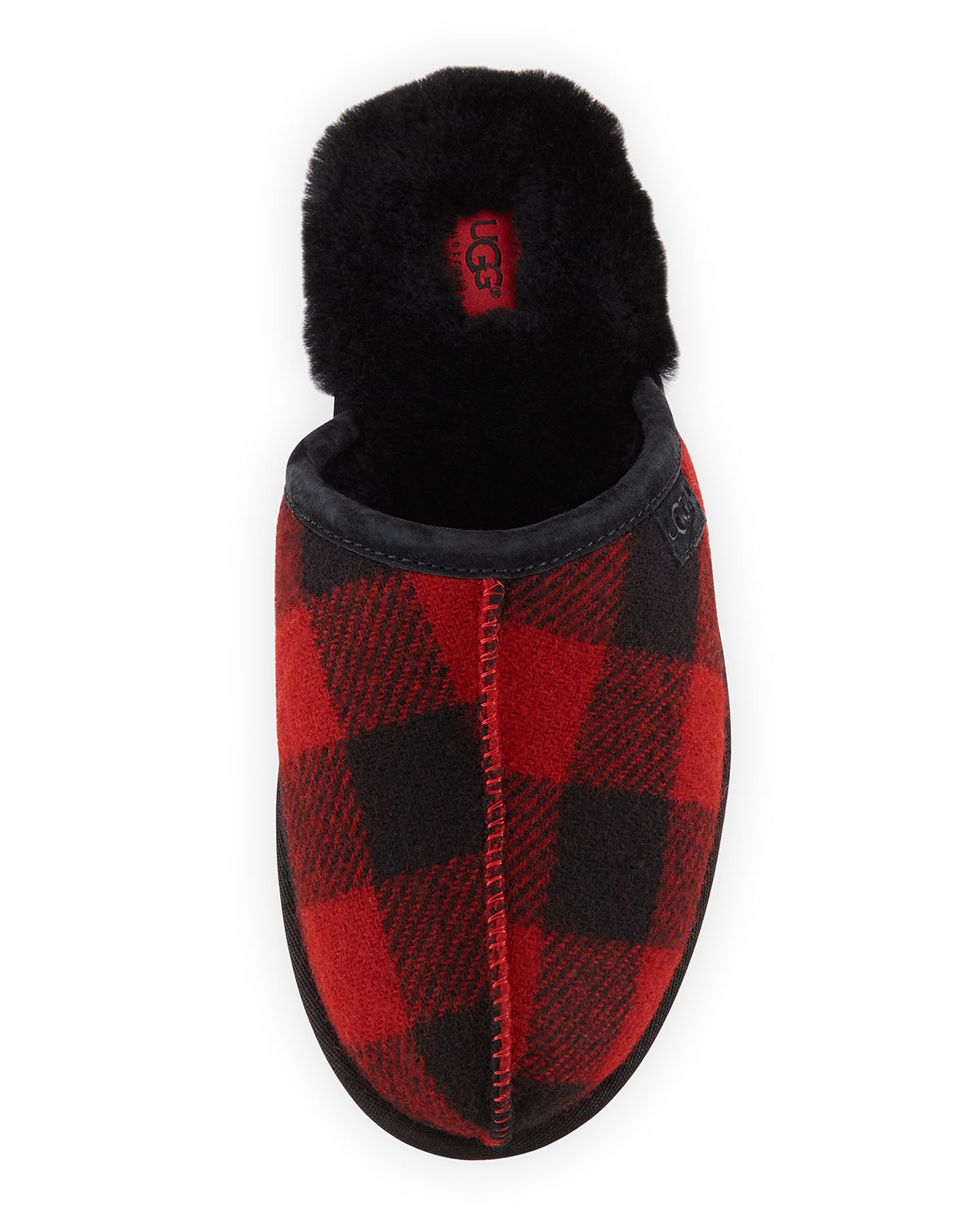 Lyst Ugg Scuff Buffalo Plaid Wool Slippers In Red