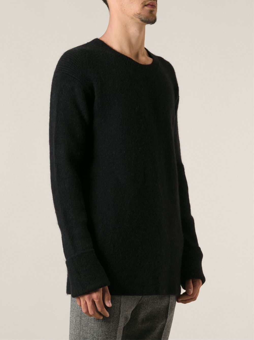 Haider ackermann Vigari Ribbed Sweater in Black for Men | Lyst
