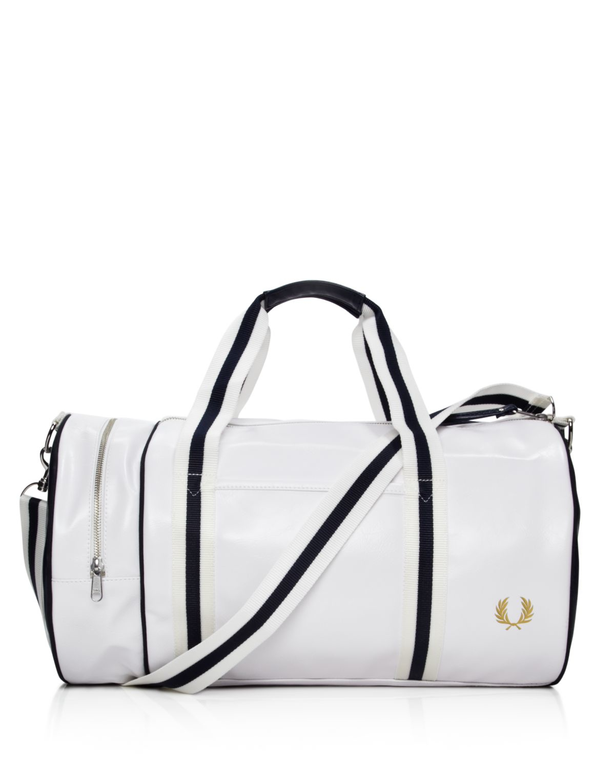 Fred Perry Classic Barrel Bag In White For Men Lyst