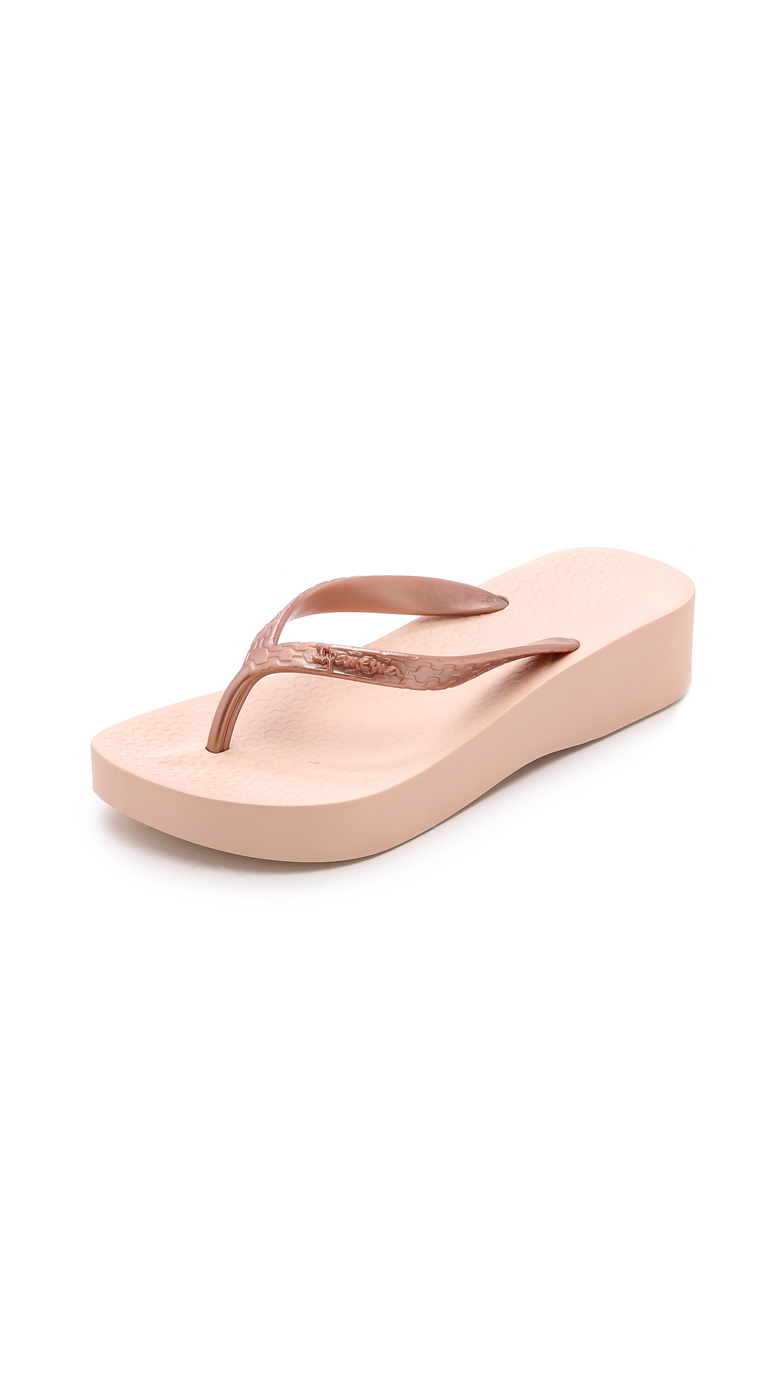 3e1fd80aac7997 Lyst - Ipanema Tropical Wedge Flip Flops - Rose Gold in Pink