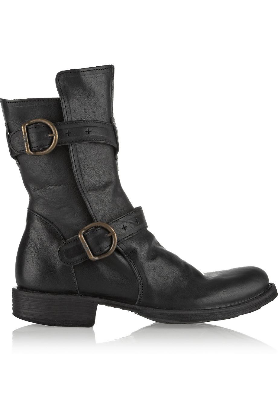 fiorentini baker eternity leather biker boots in black. Black Bedroom Furniture Sets. Home Design Ideas