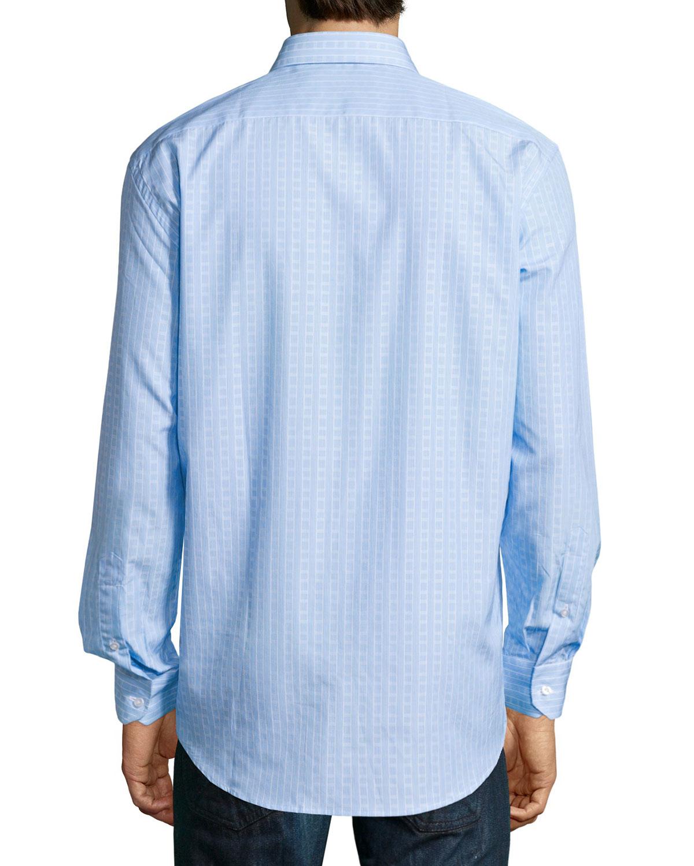Lyst robert graham lex regular fit striped dress shirt for Regular fit dress shirt