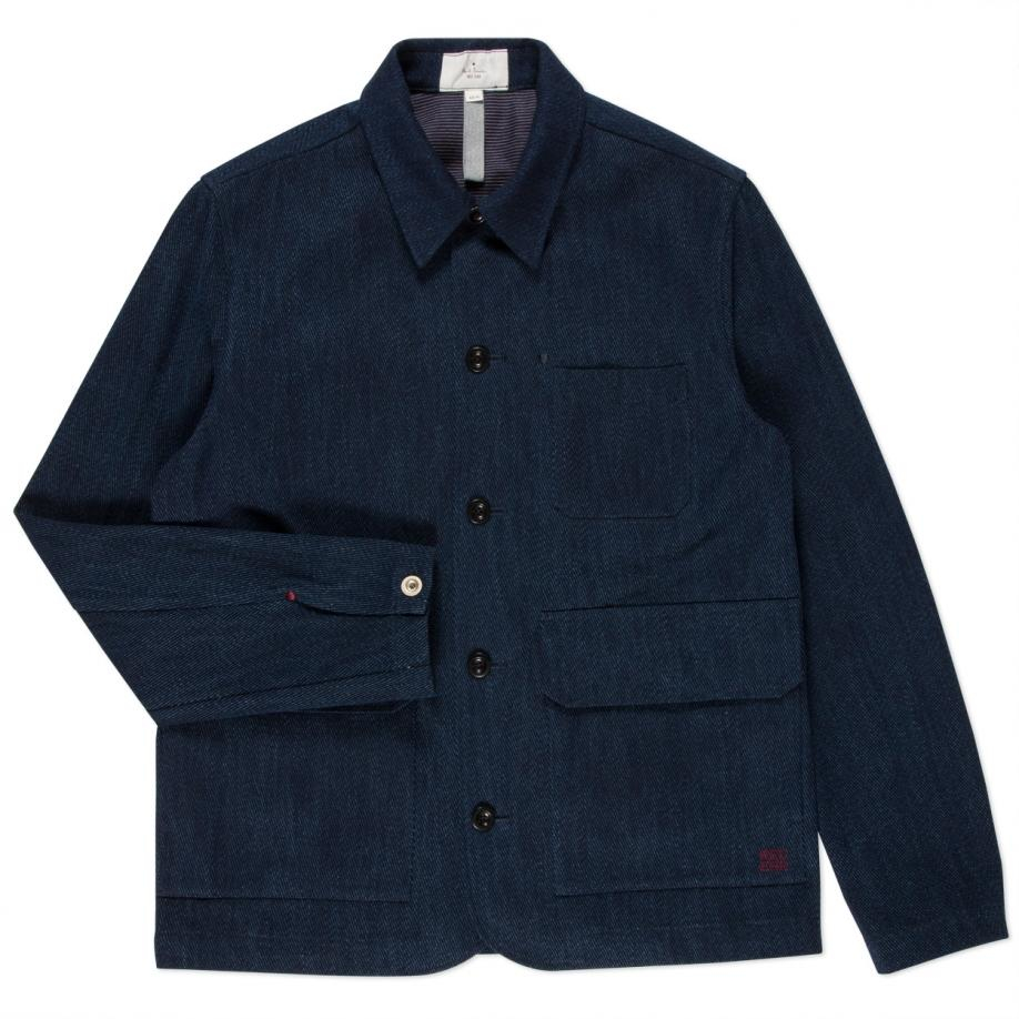 f4874931a242 Lyst - Paul Smith Men s Indigo-dyed Cotton-twill Work Jacket in Blue ...