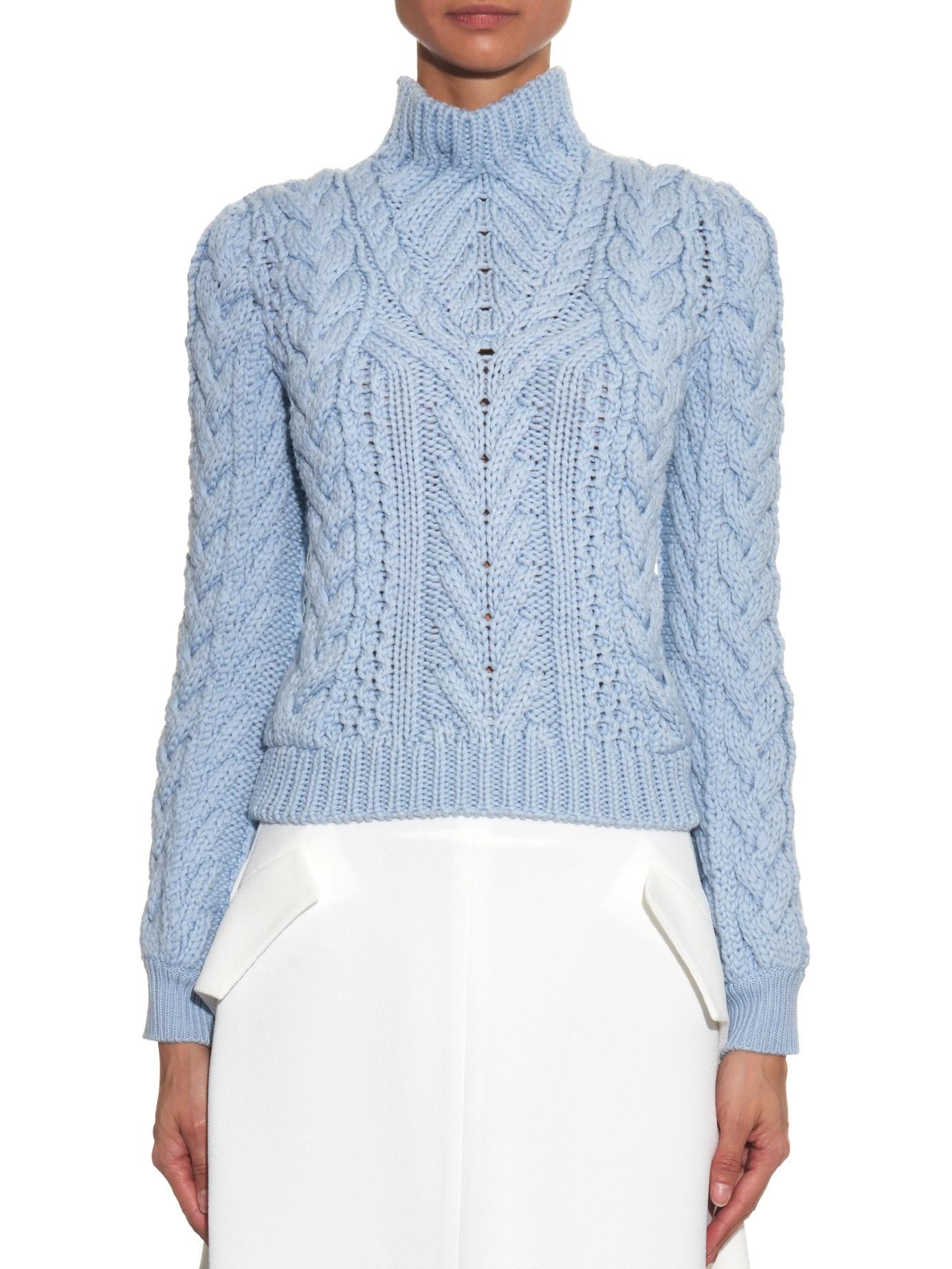 Altuzarra Harper Chunky-knit Wool Sweater in Blue   Lyst