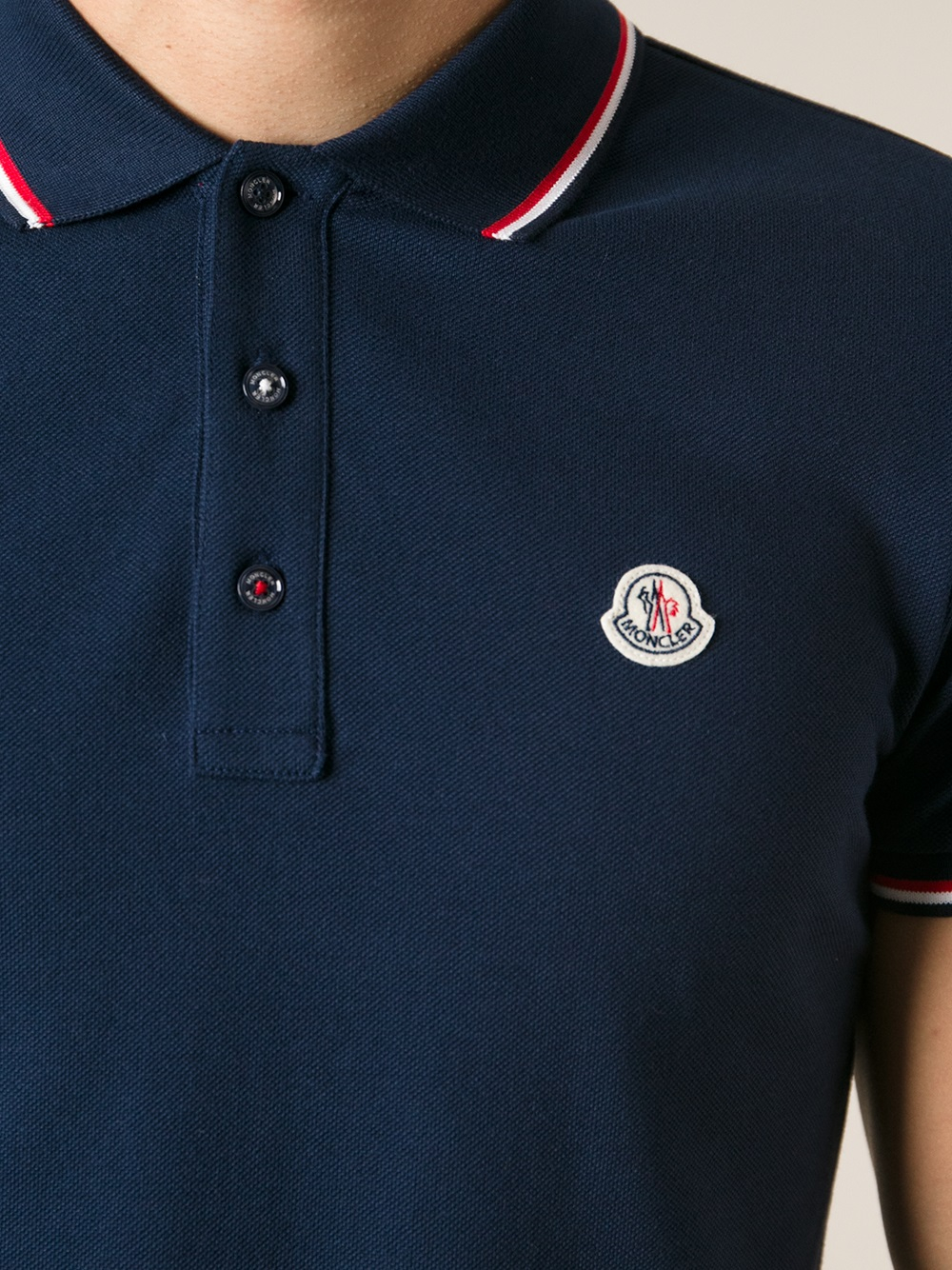 moncler classic polo shirt in blue for men lyst. Black Bedroom Furniture Sets. Home Design Ideas