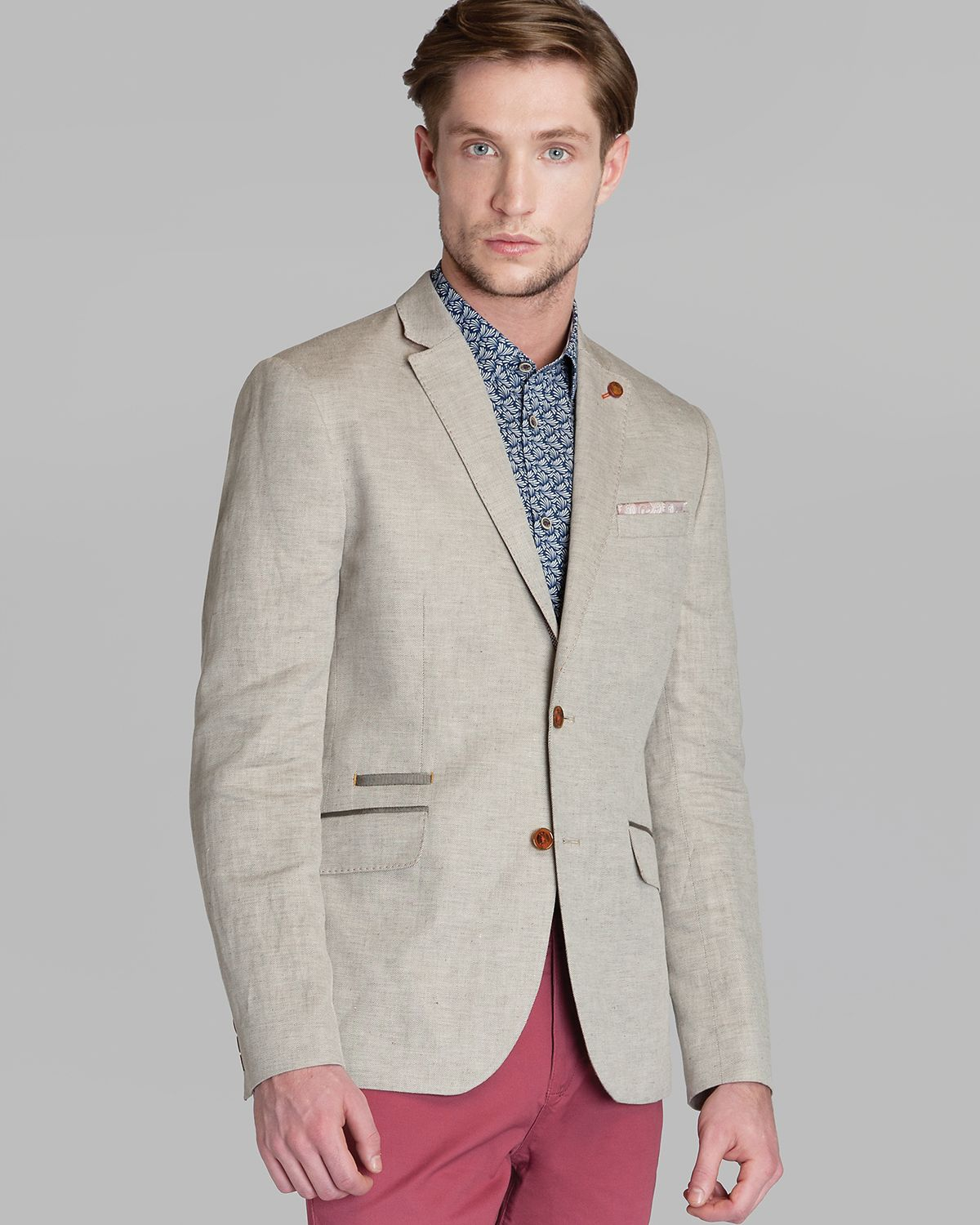 a4b32826eeff Lyst - Ted Baker Dainy Linen Blazer in Natural for Men