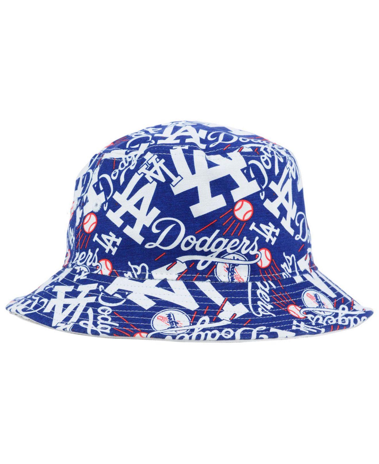 size 40 a7f24 0b32d Lyst - 47 Brand Los Angeles Dodgers Bravado Bucket Hat in Blue for Men