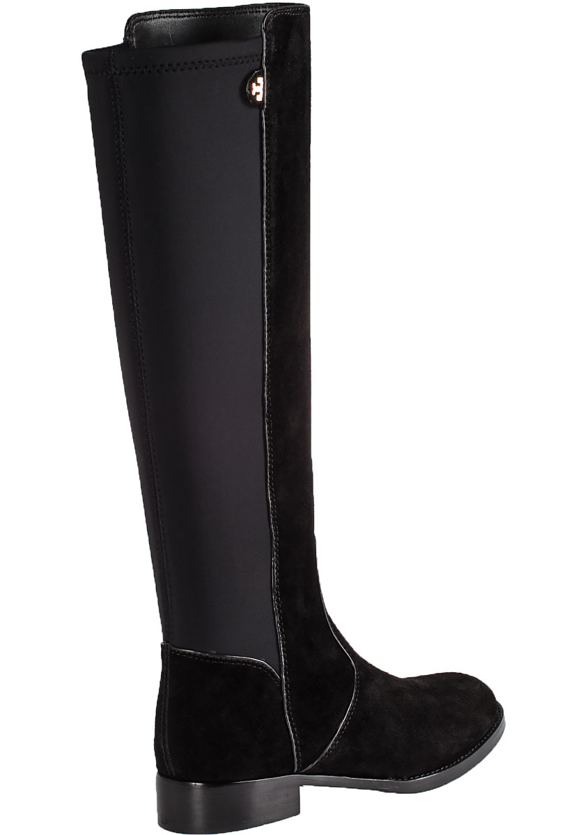 b5f4188bd8e519 Lyst - Tory Burch Seldon Suede Riding Boots in Black