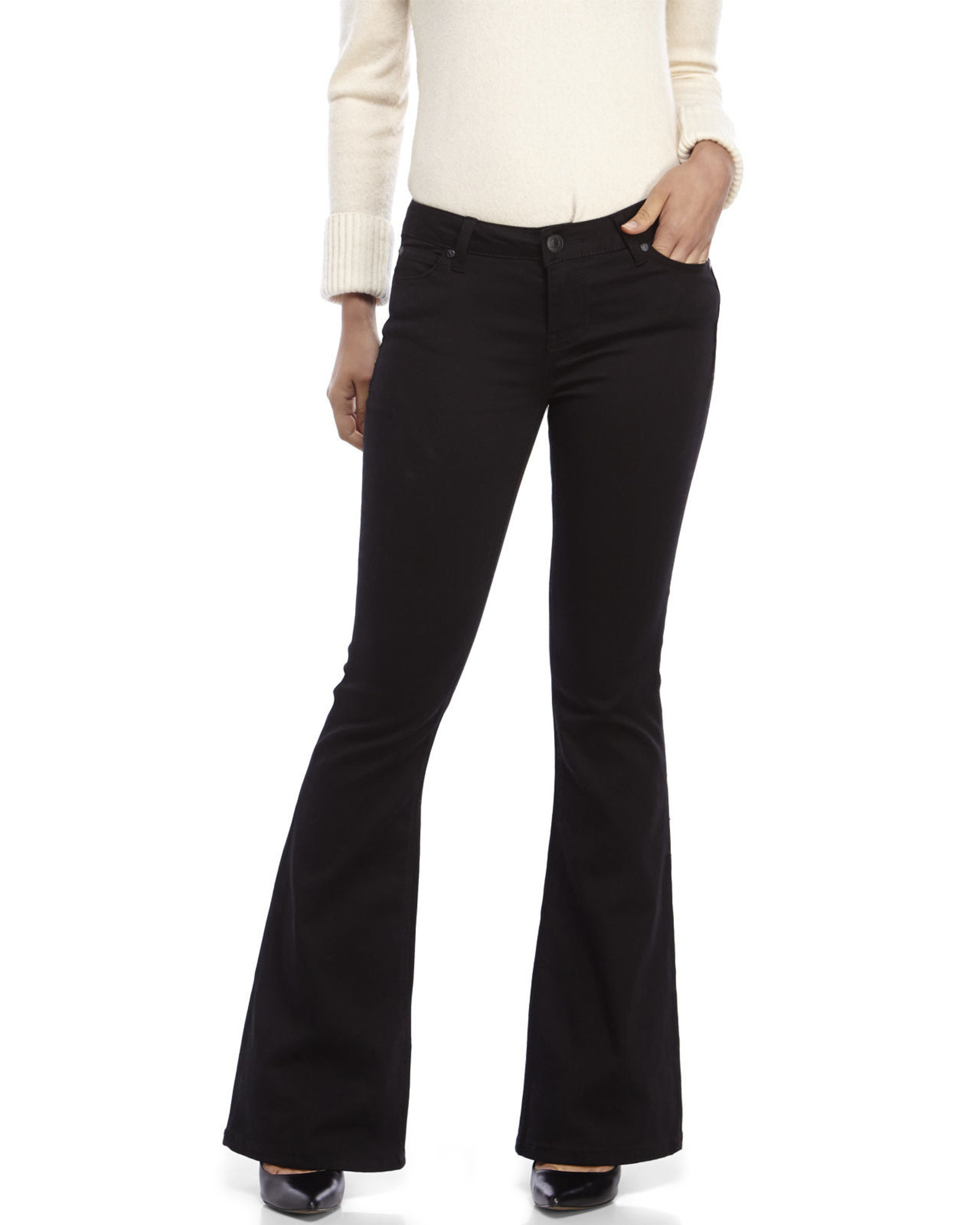 Celebrity pink Five-Pocket Flare Leg Jeans in Black | Lyst