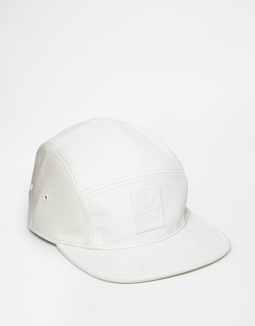 601a83cc40124 ... order lyst adidas originals 5 panel cap in snake ac0510 in white for  men 2f496 298bd