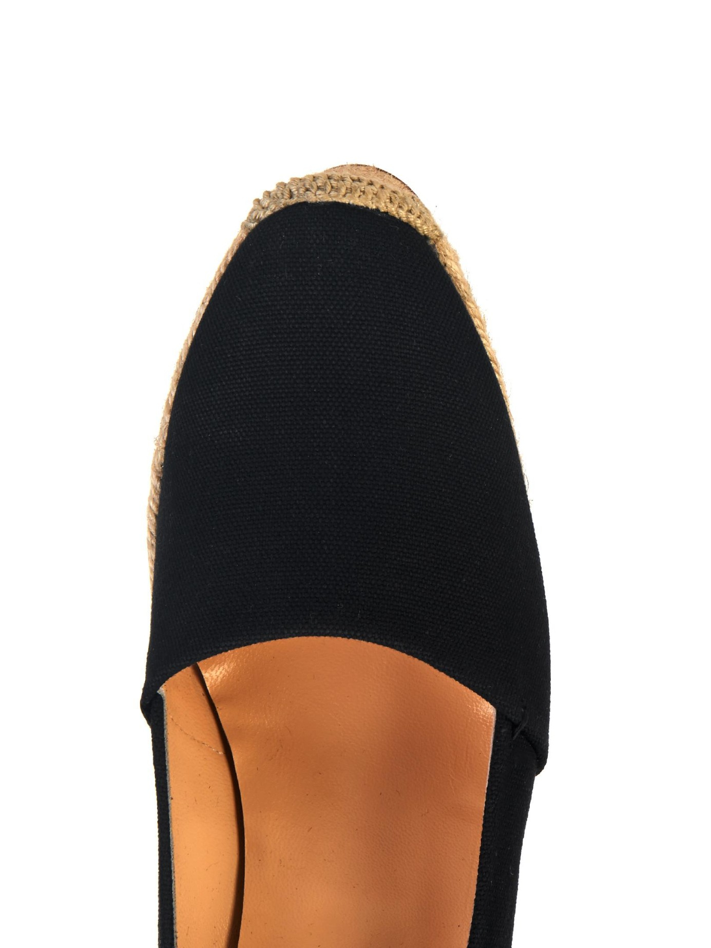 replica christian louboutin shoes for men - christian louboutin round-toe espadrille wedges Black canvas | The ...