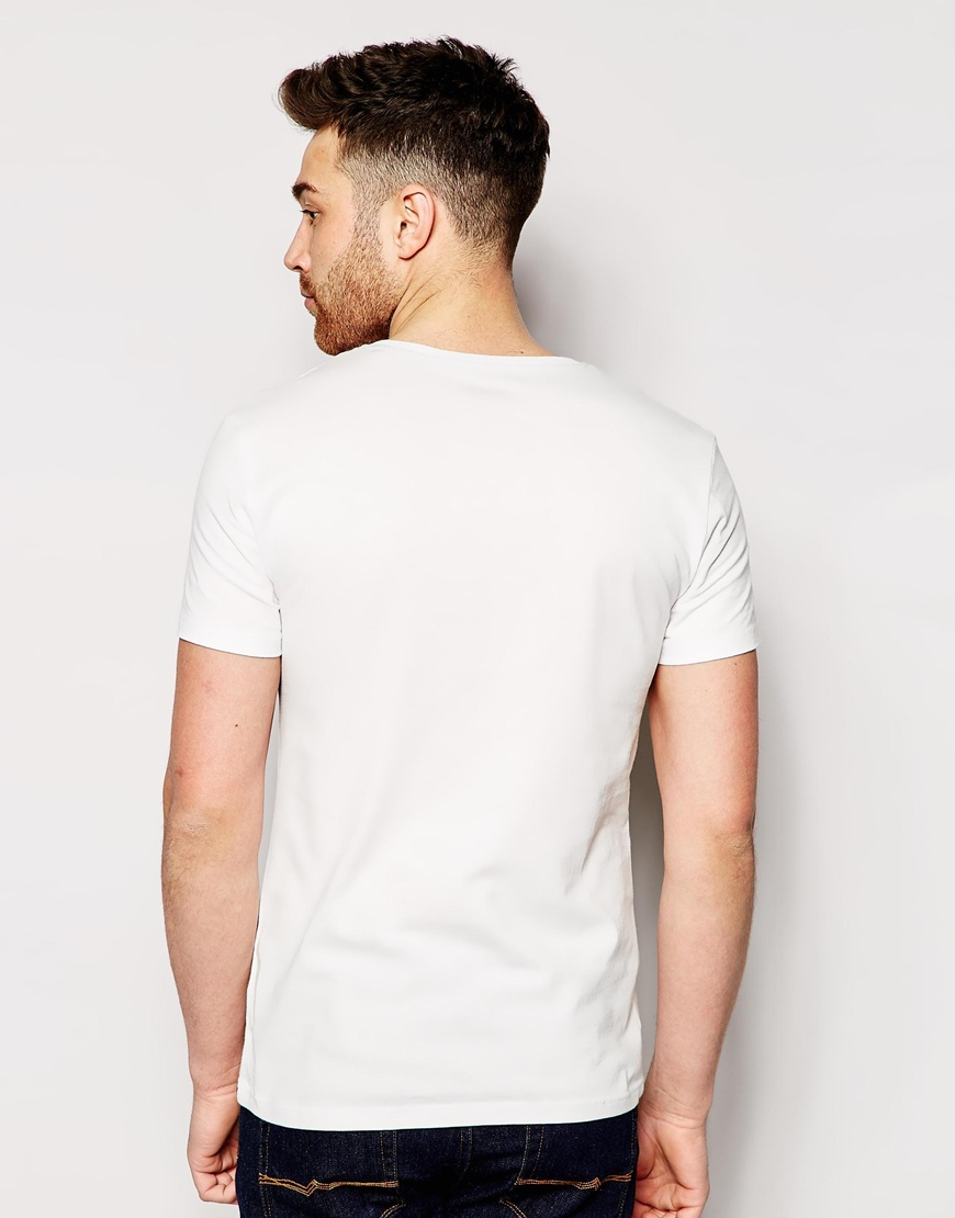 Esprit t shirt with miami print in white for men lyst for Miami t shirt printing