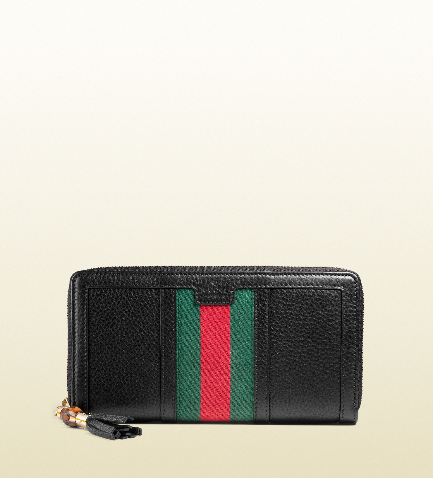 d72ec83c425f Gucci Rania Leather Zip Around Wallet in Black for Men - Lyst