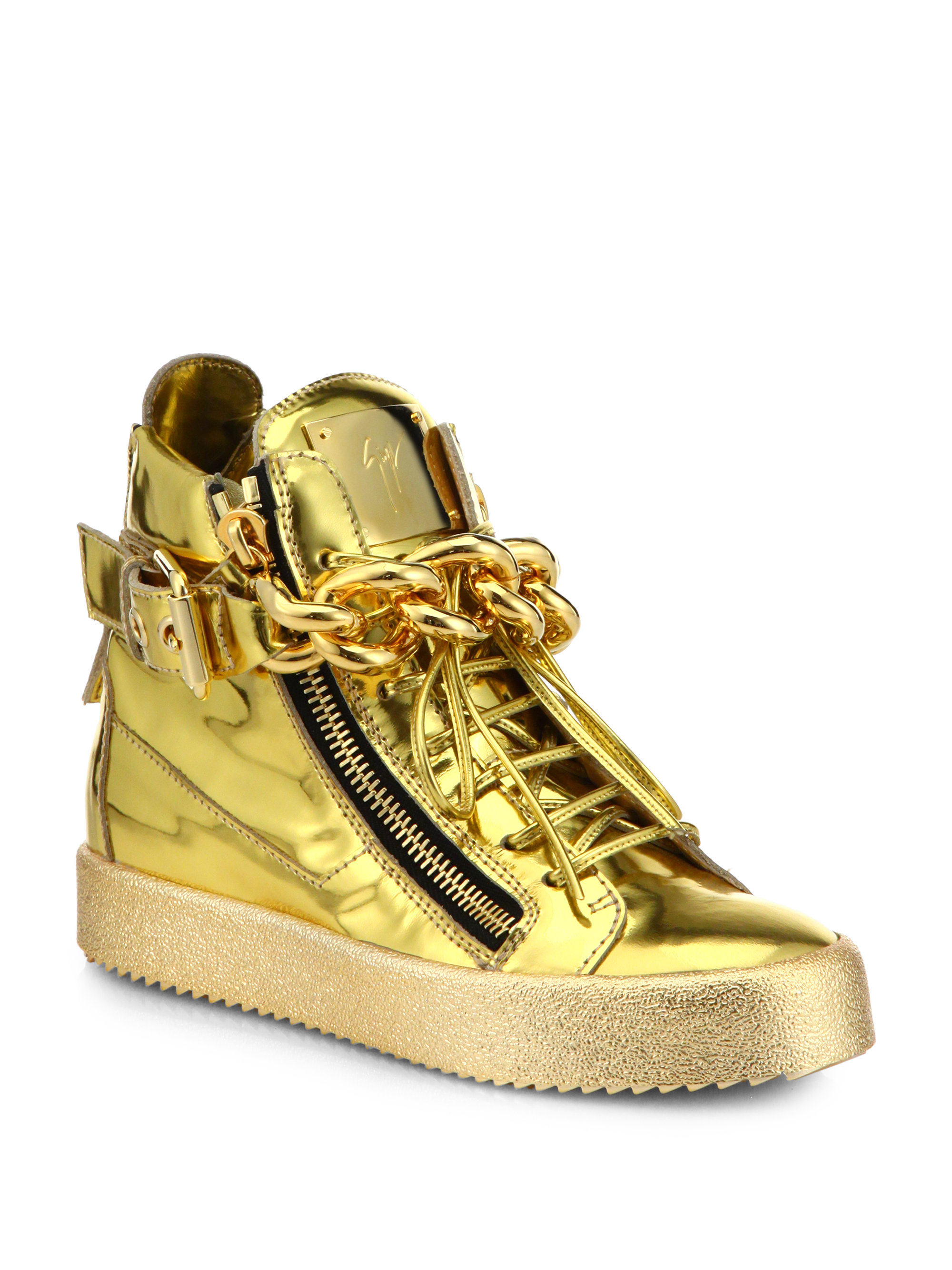 Giuseppe Zanotti Chain-Link High-Top Sneakers