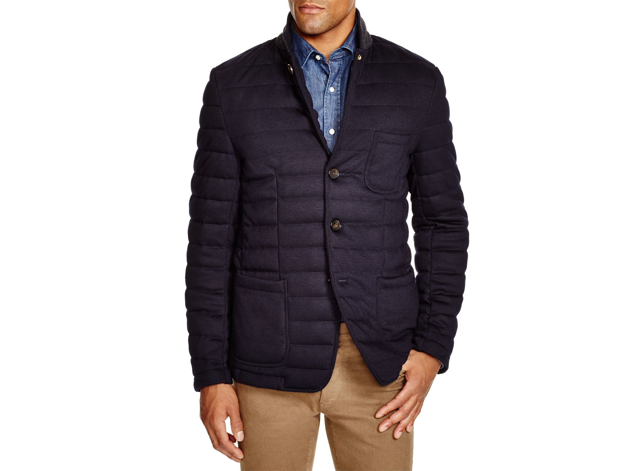 Scotch & soda Quilted Blazer in Blue for Men | Lyst : quilted blazer - Adamdwight.com