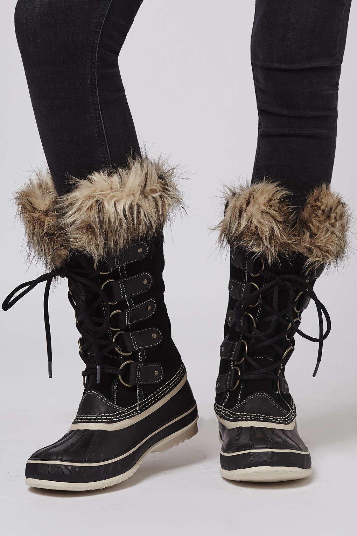 Lyst Topshop Joan Of Arctic Sorel Boots In Black