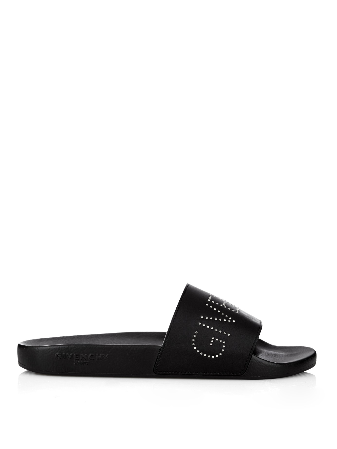Givenchy Rubber Pool Slide Sandals In Black For Men Lyst