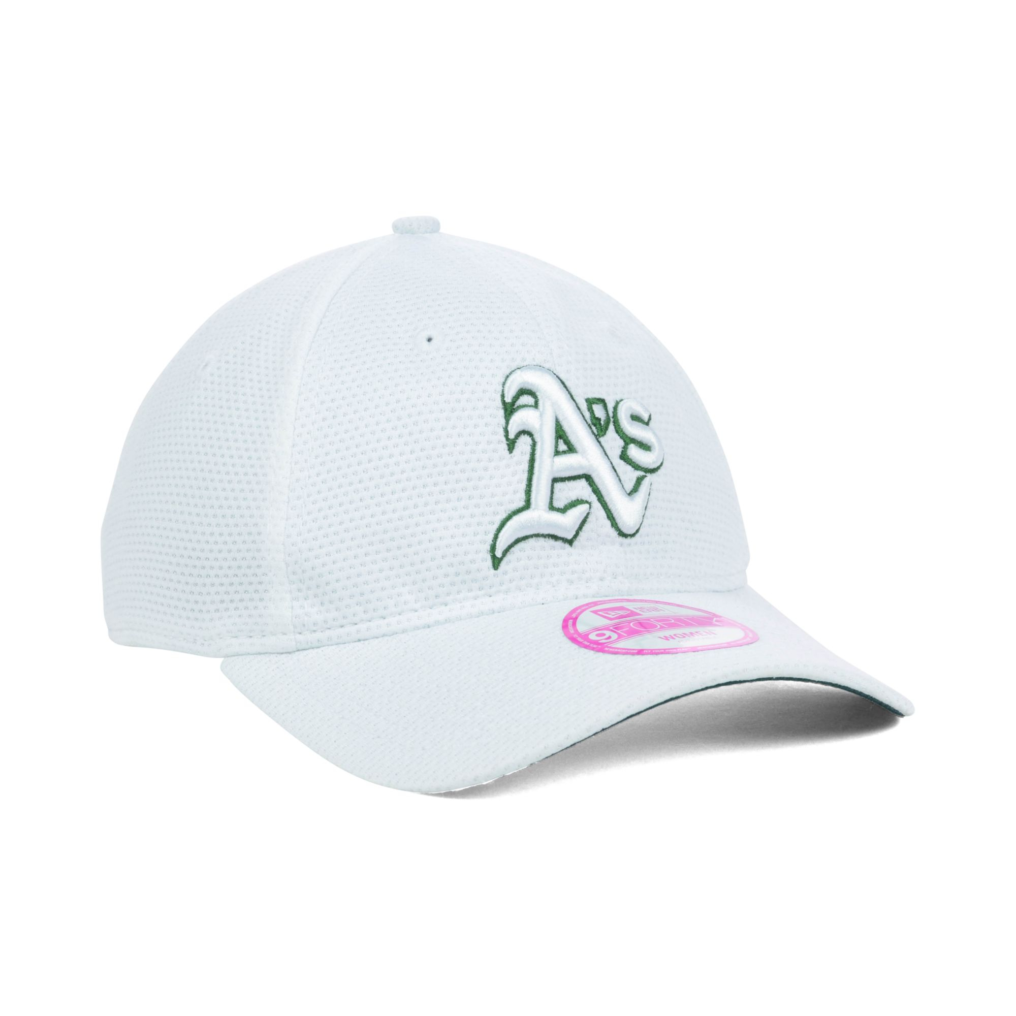 the best attitude 4b8dd 7376d ... switzerland lyst ktz womens oakland athletics tech essential 9forty cap  in white 5d063 519b5