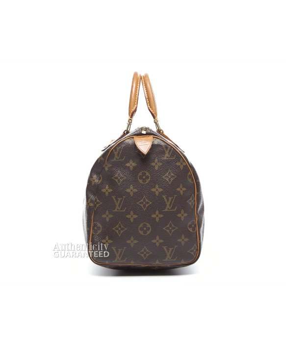 Louis Vuitton Trash Bags Gallery Louis Vuitton Pre Owned Monogram Canvas Speedy 30 Bag In Brown Lyst
