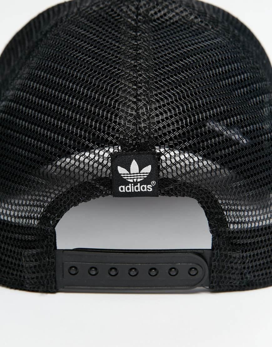 0994c0e7 release date lyst adidas originals trucker cap in black for men 9ad52 fc281