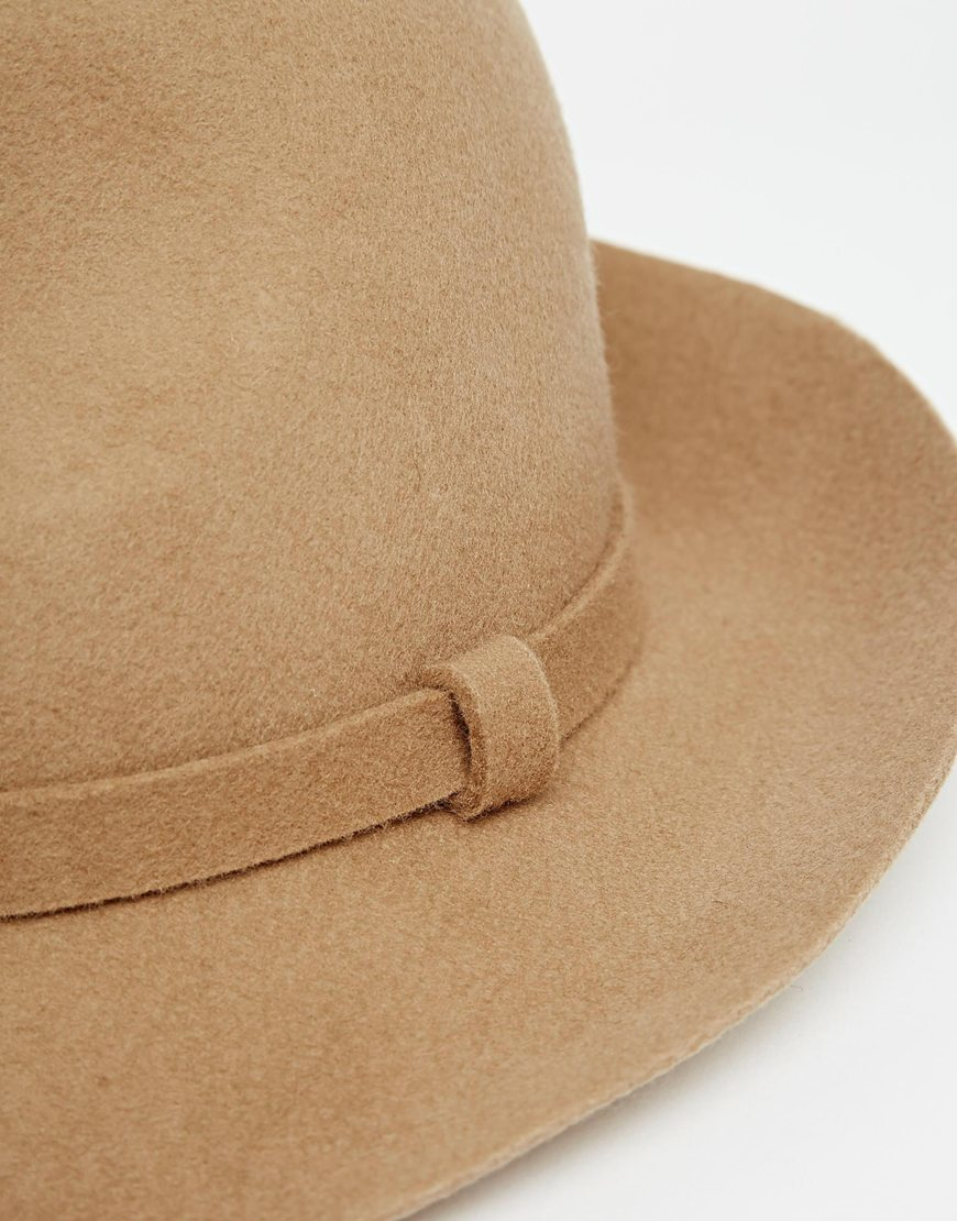 be55b6c4d32af ASOS Fedora Hat In Camel Felt in Brown for Men - Lyst