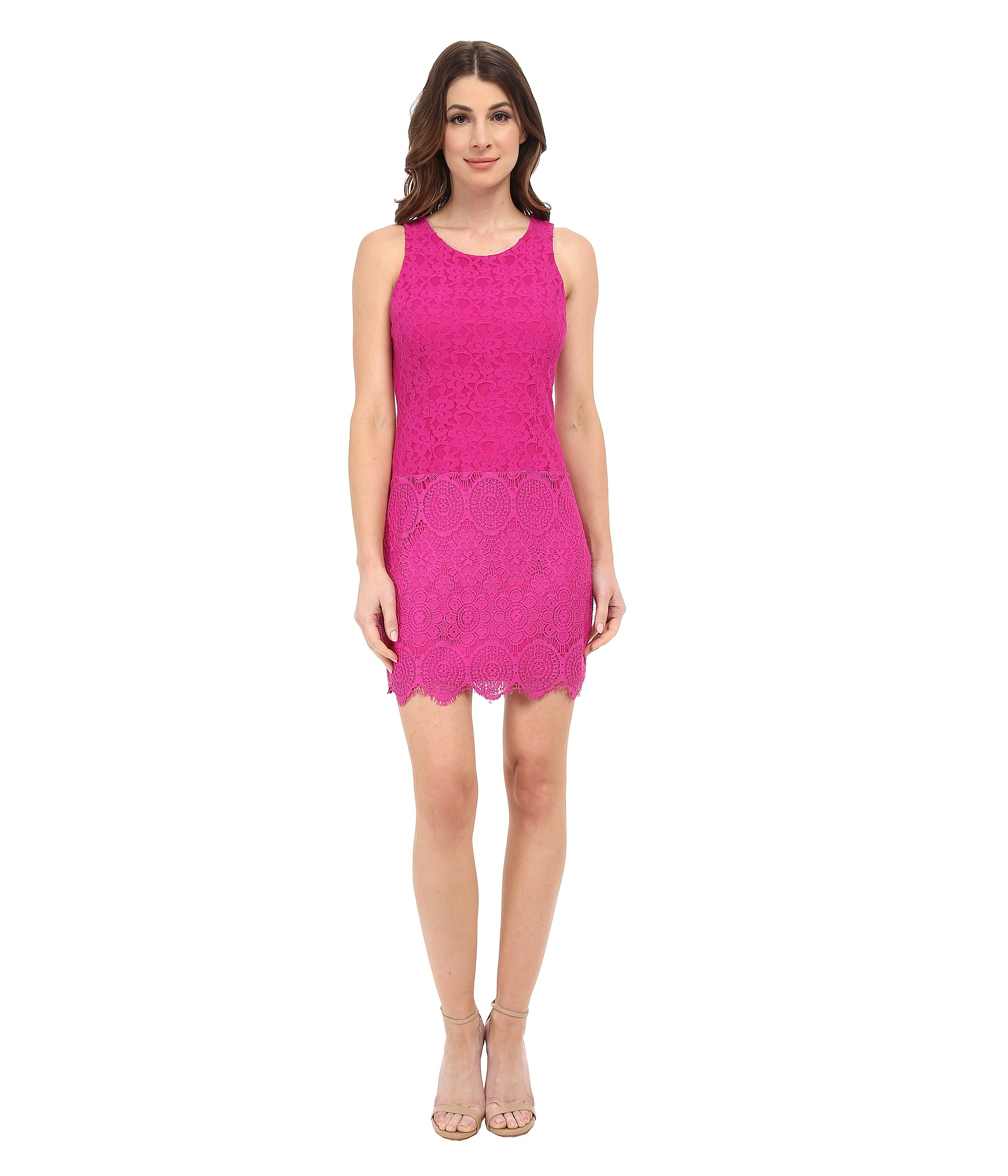 2067da89 Laundry by Shelli Segal Susanna Stretch Lace Sleeveless Dress in ...
