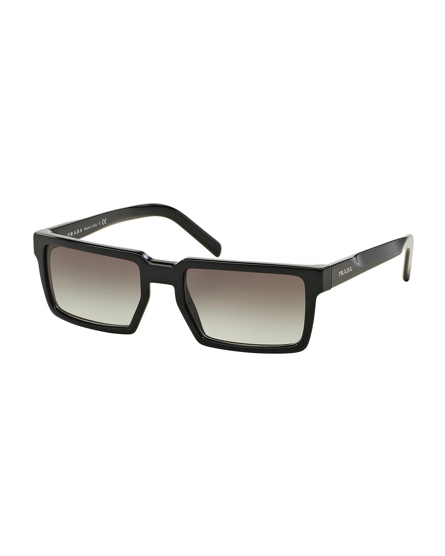d47fcee211c0 ... sale lyst prada thick rim rectangular sunglasses in black for men ba0bf  e1ffe