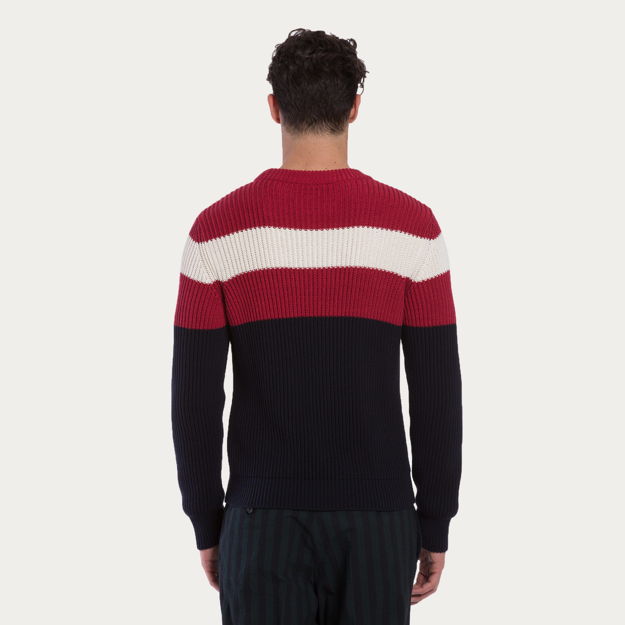 Bally Cotton Sweater in Red for Men | Lyst