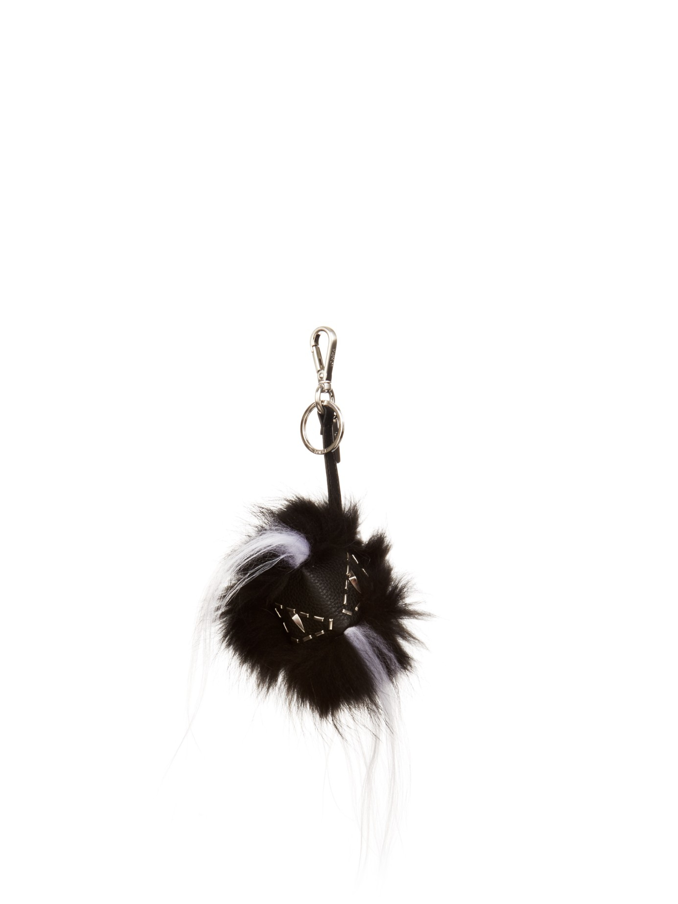 6166a6c96fe ... low price lyst fendi bag bugs fox and goat fur charm in black for men  3c64c