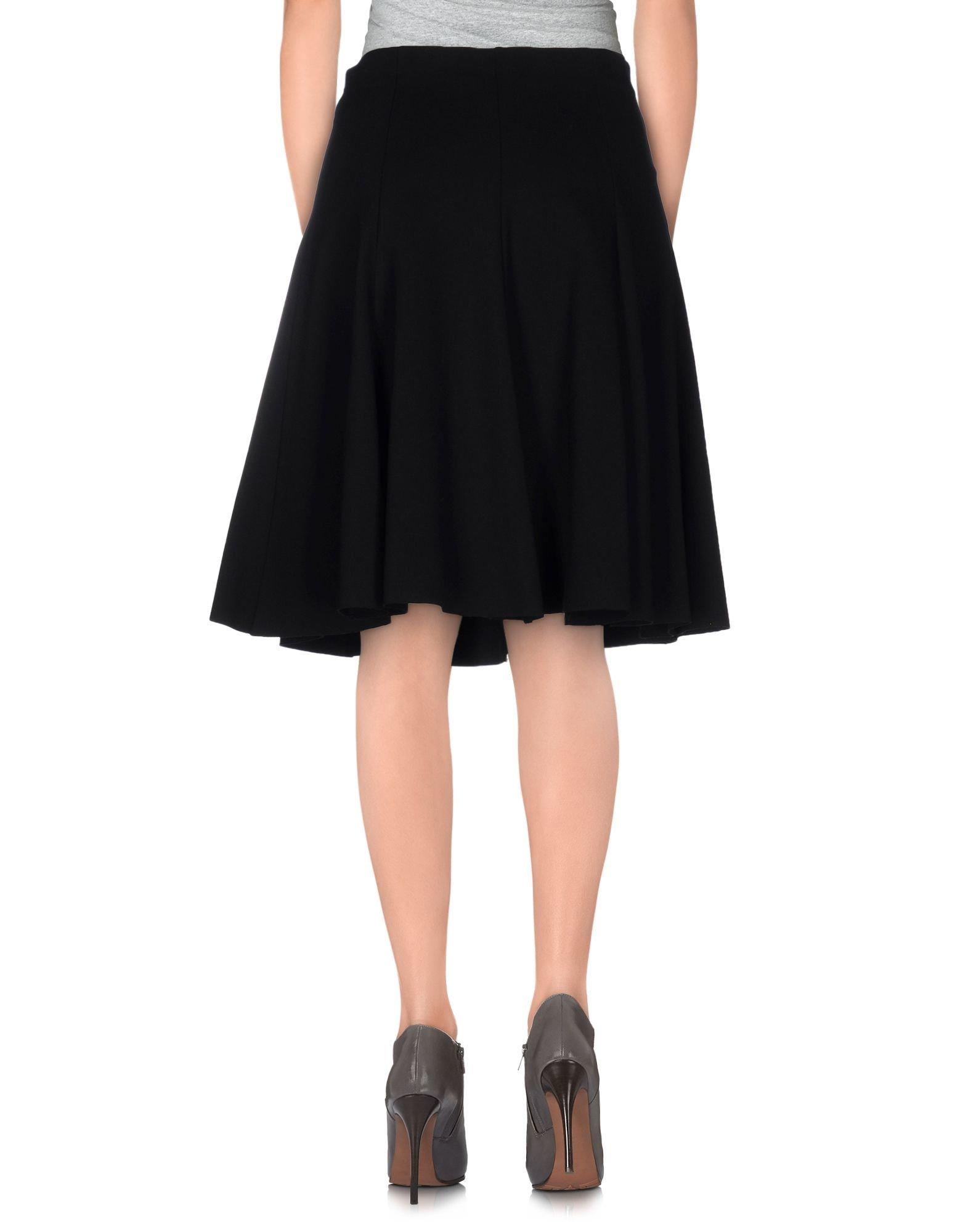tessa knee length skirt in black lyst