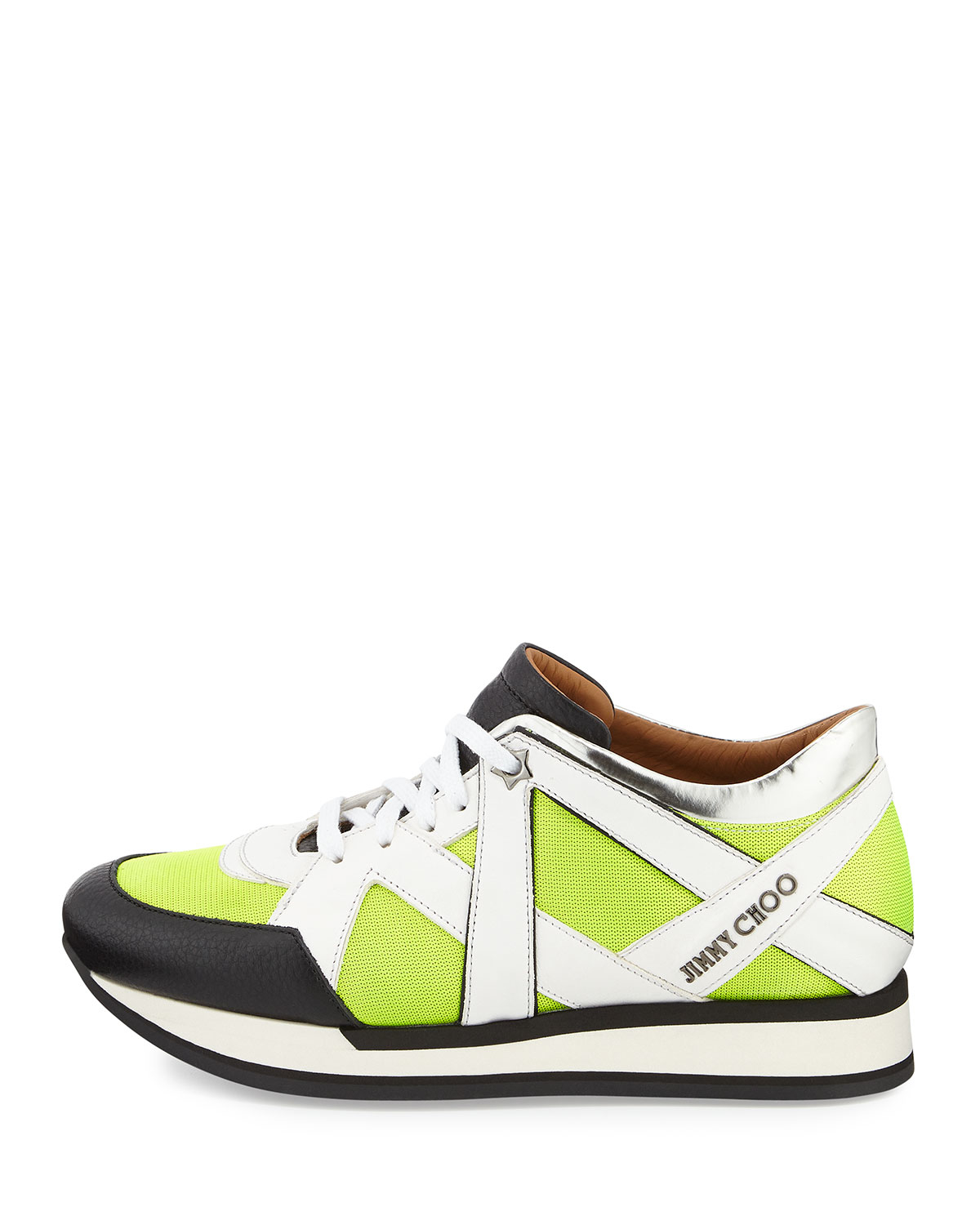 jimmy choo london lace up sneaker in yellow for men lyst. Black Bedroom Furniture Sets. Home Design Ideas