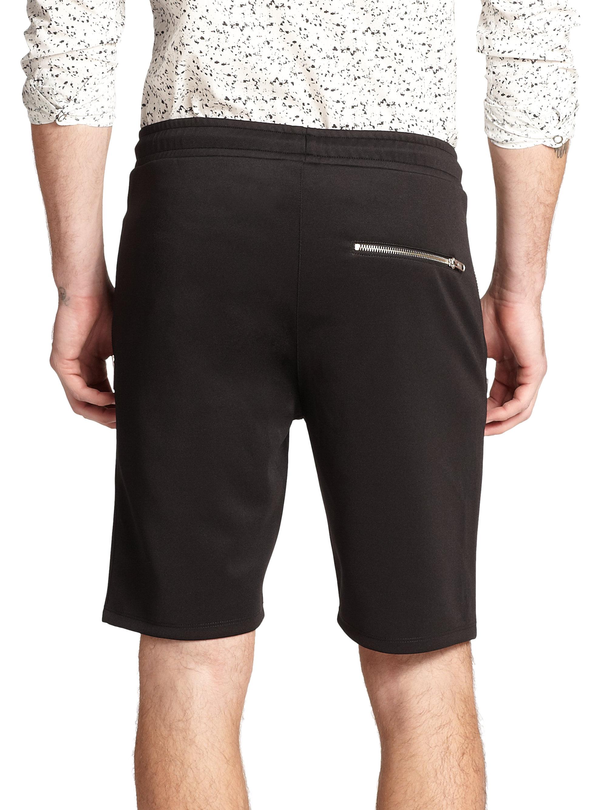 The kooples sport Neoprene Zip-Pocket Shorts in Black for ...