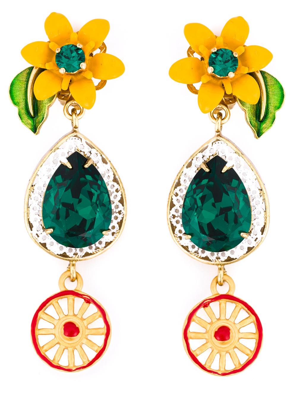Dolce & Gabbana Crystal clip-on earrings II1d0xA
