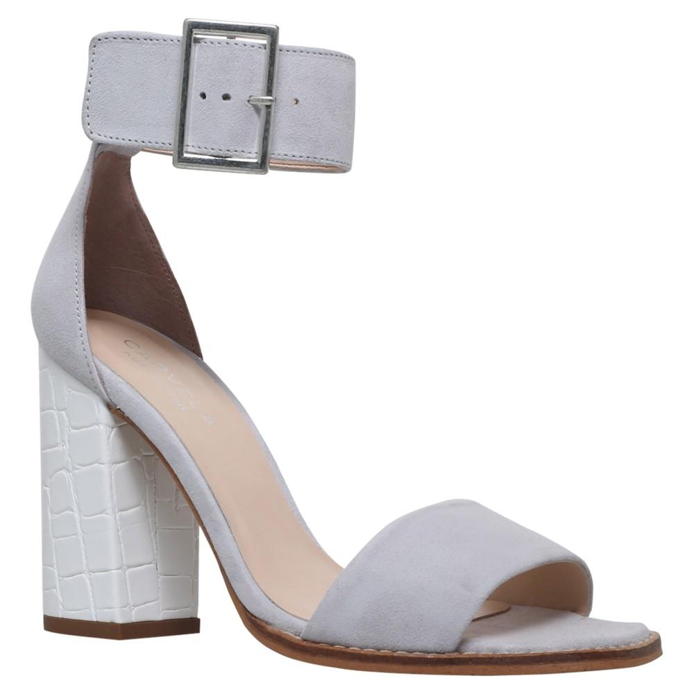 d29d458de2f Carvela Kurt Geiger Komet Block Heeled Sandals in Gray - Lyst