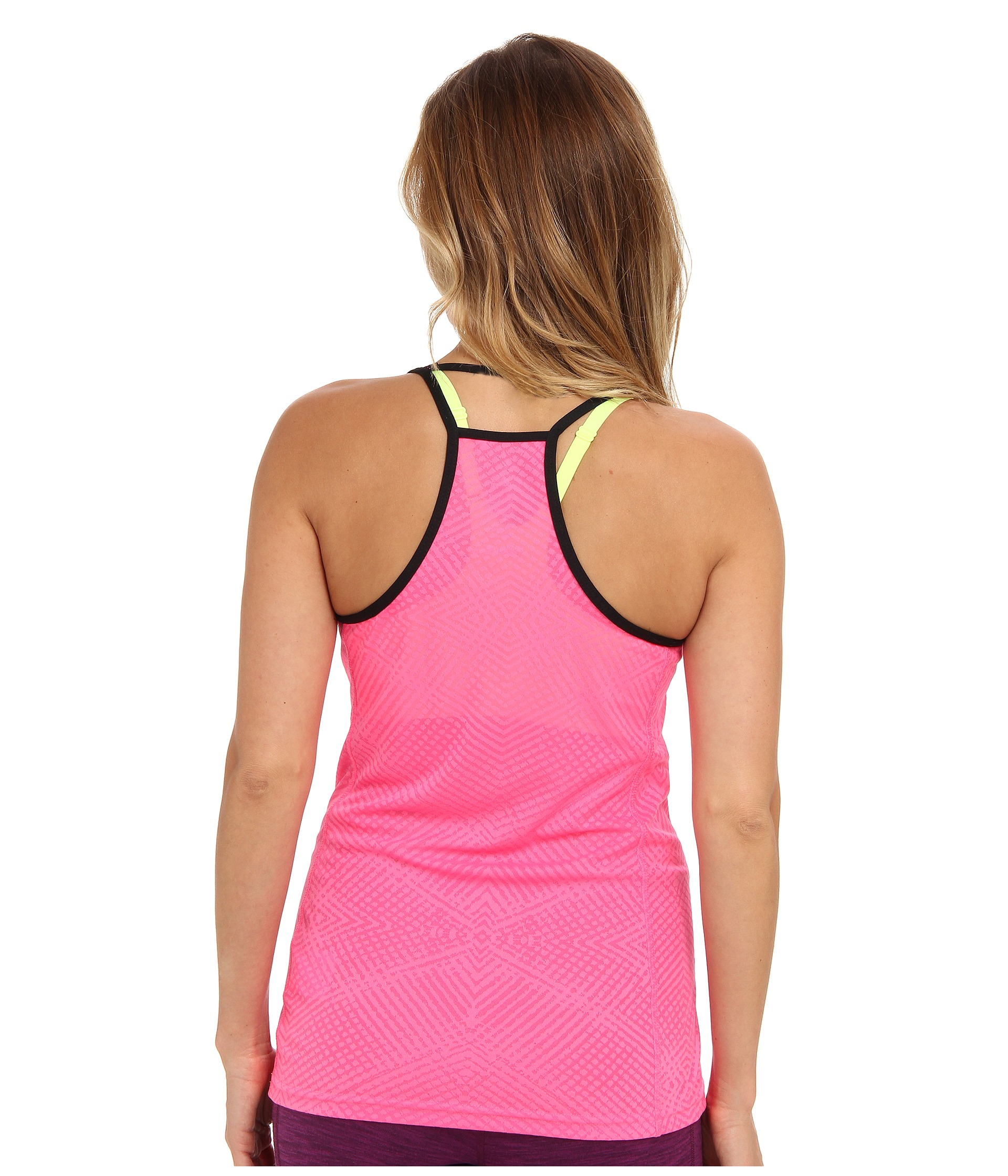lyst adidas supernova mesh tank top in pink. Black Bedroom Furniture Sets. Home Design Ideas