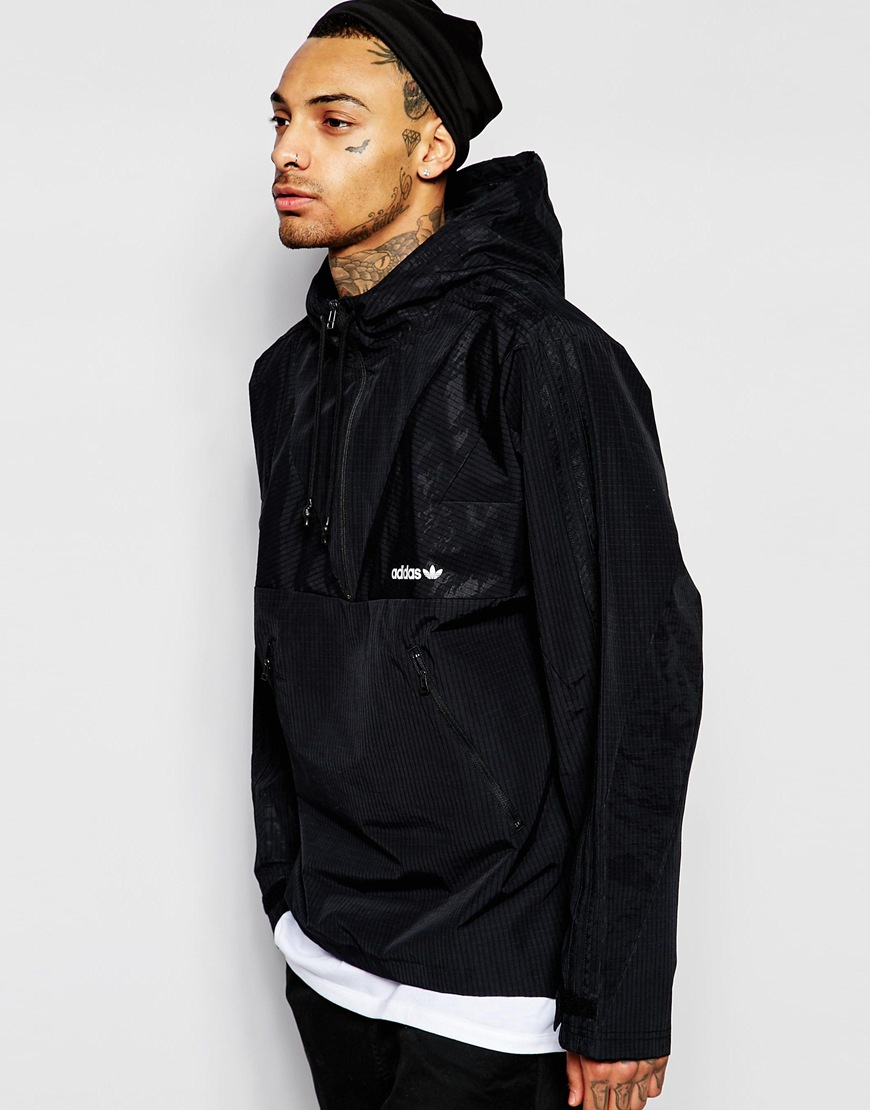 Lyst Adidas Originals Modern Windbreaker Jacket Aj7594 In Black