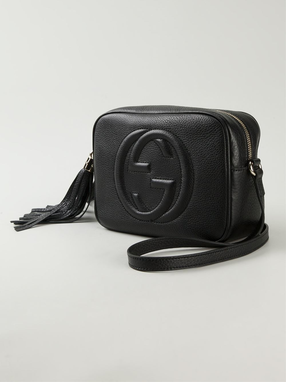 Lyst Gucci Soho Leather Cross Body Bag In Black