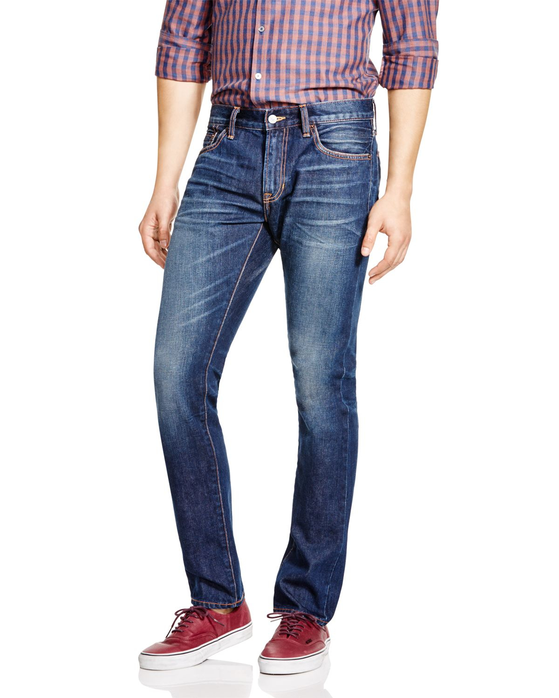 Jim Maigre Ajustement Des Jeans Stretch Selvedge Denim Boutique Jean 8Yaef