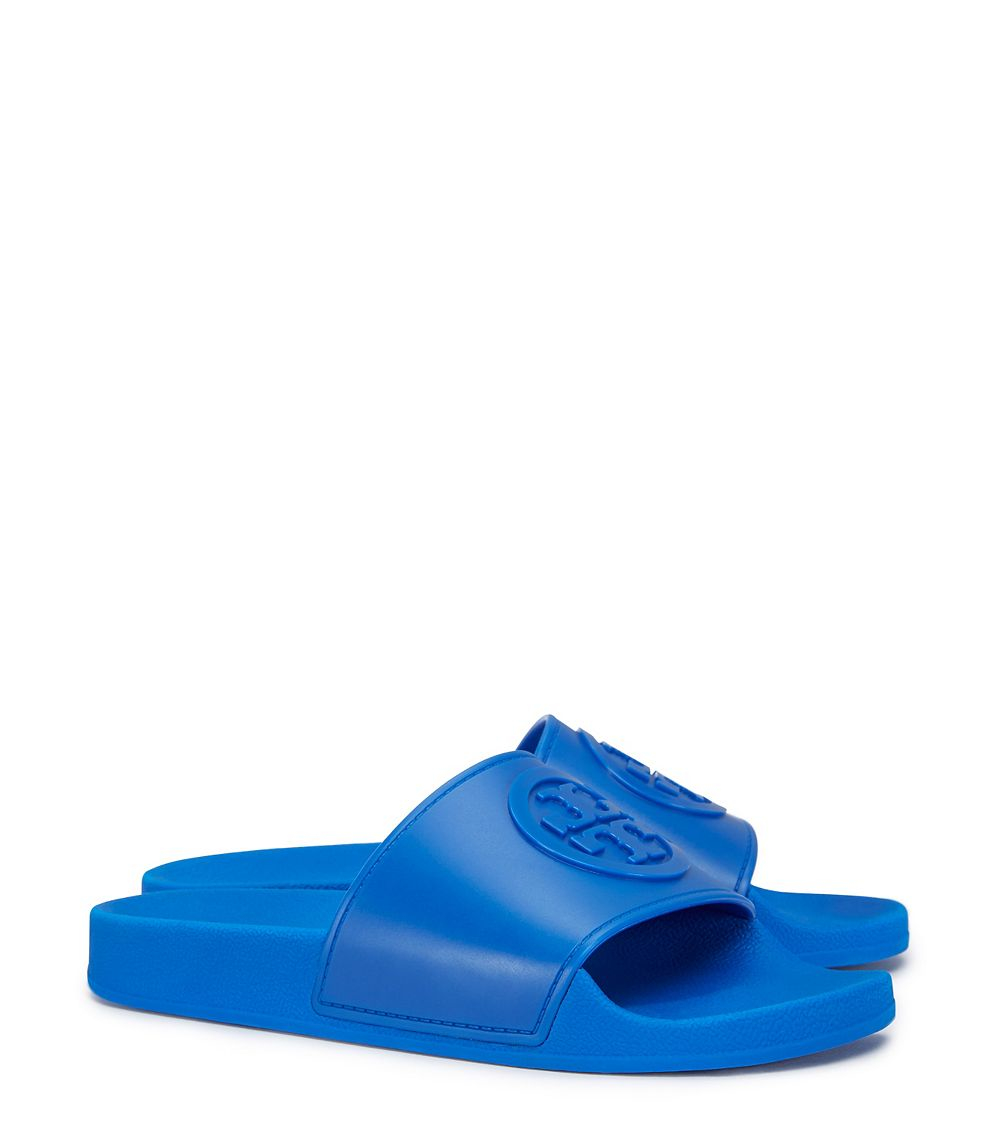 46bad4561e99 Lyst - Tory Burch Jelly Flat Slide in Blue