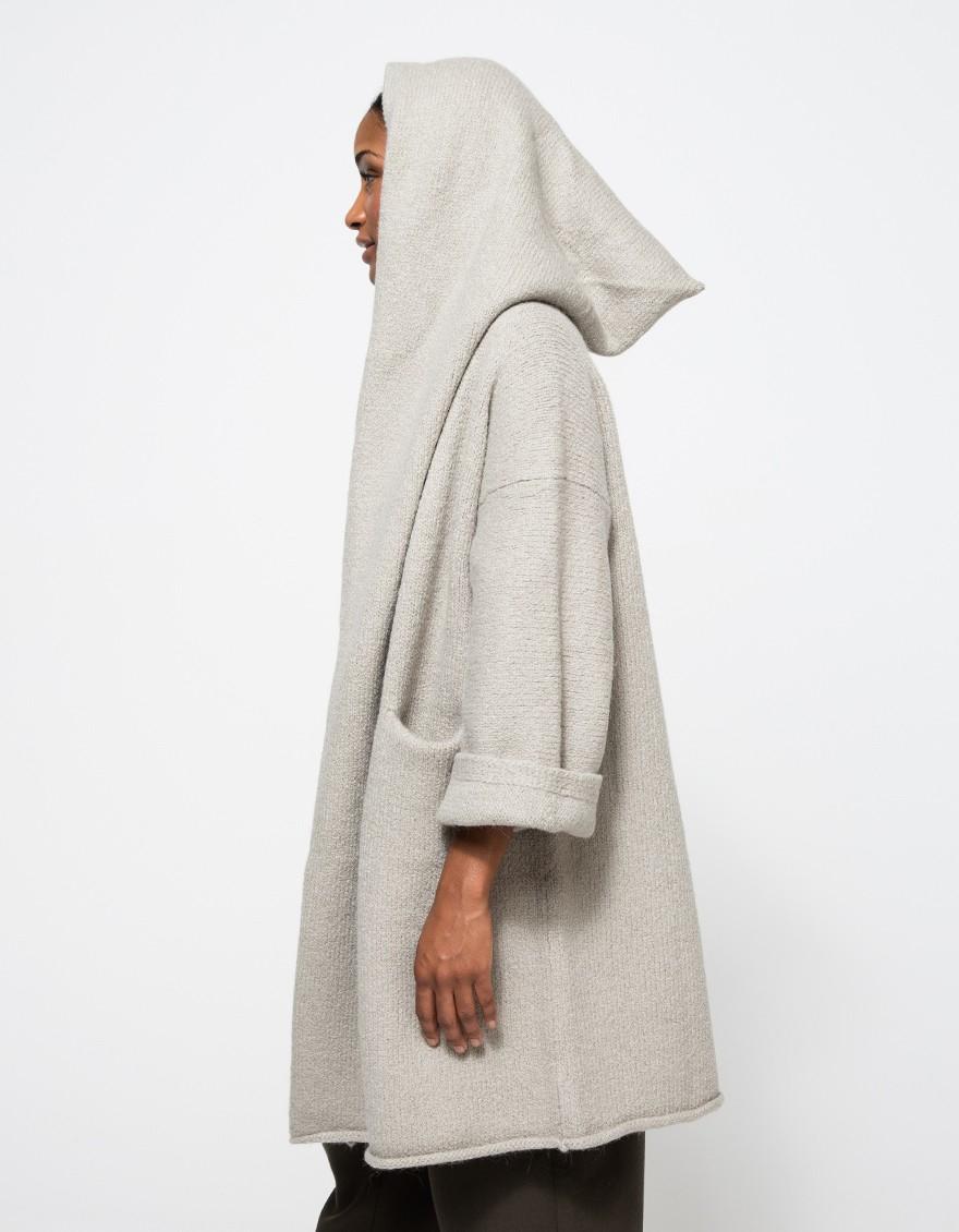 lyst lauren manoogian capote coat in cement in gray. Black Bedroom Furniture Sets. Home Design Ideas