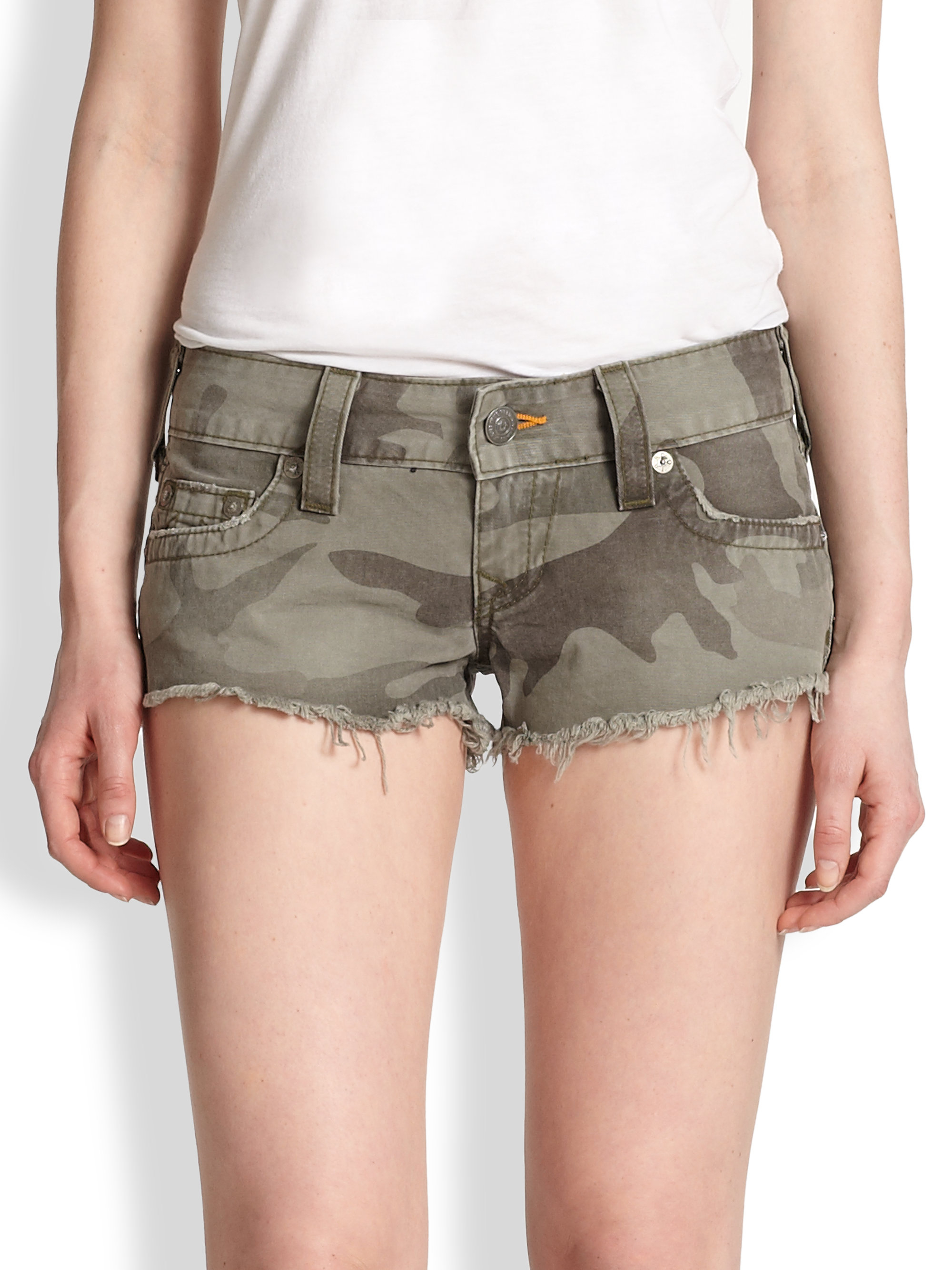 076f10e2b8c58 Lyst - True Religion Bobby Cut-off Camouflage Shorts in Green