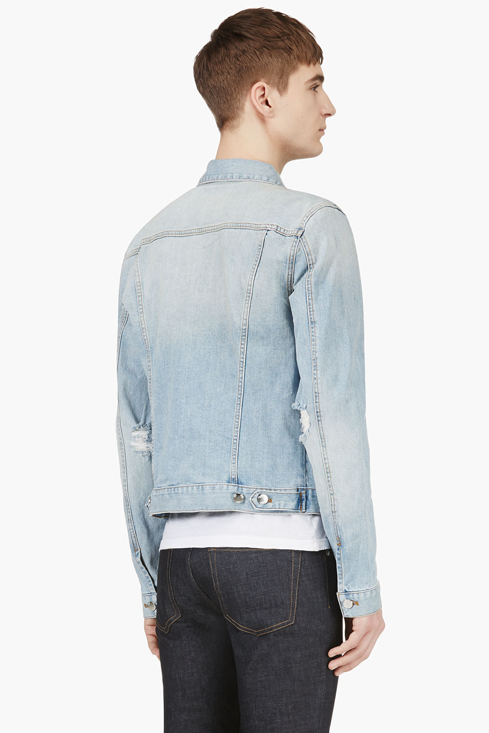 Blk dnm Light Blue Faded Denim Jacket in Blue for Men | Lyst