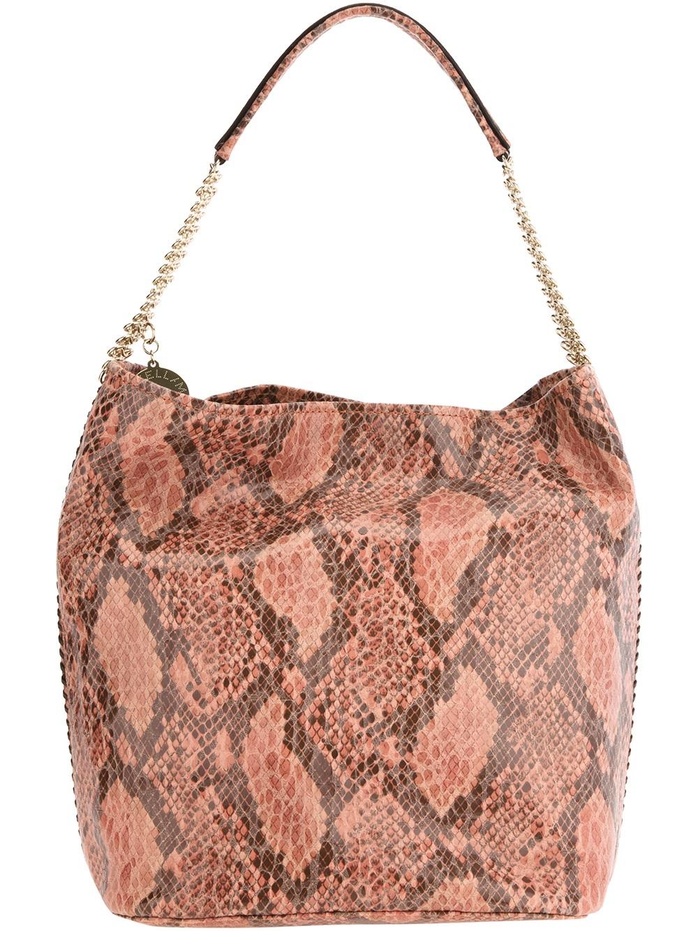 Stella mccartney Snake Skin Print Hobo Bag | Lyst